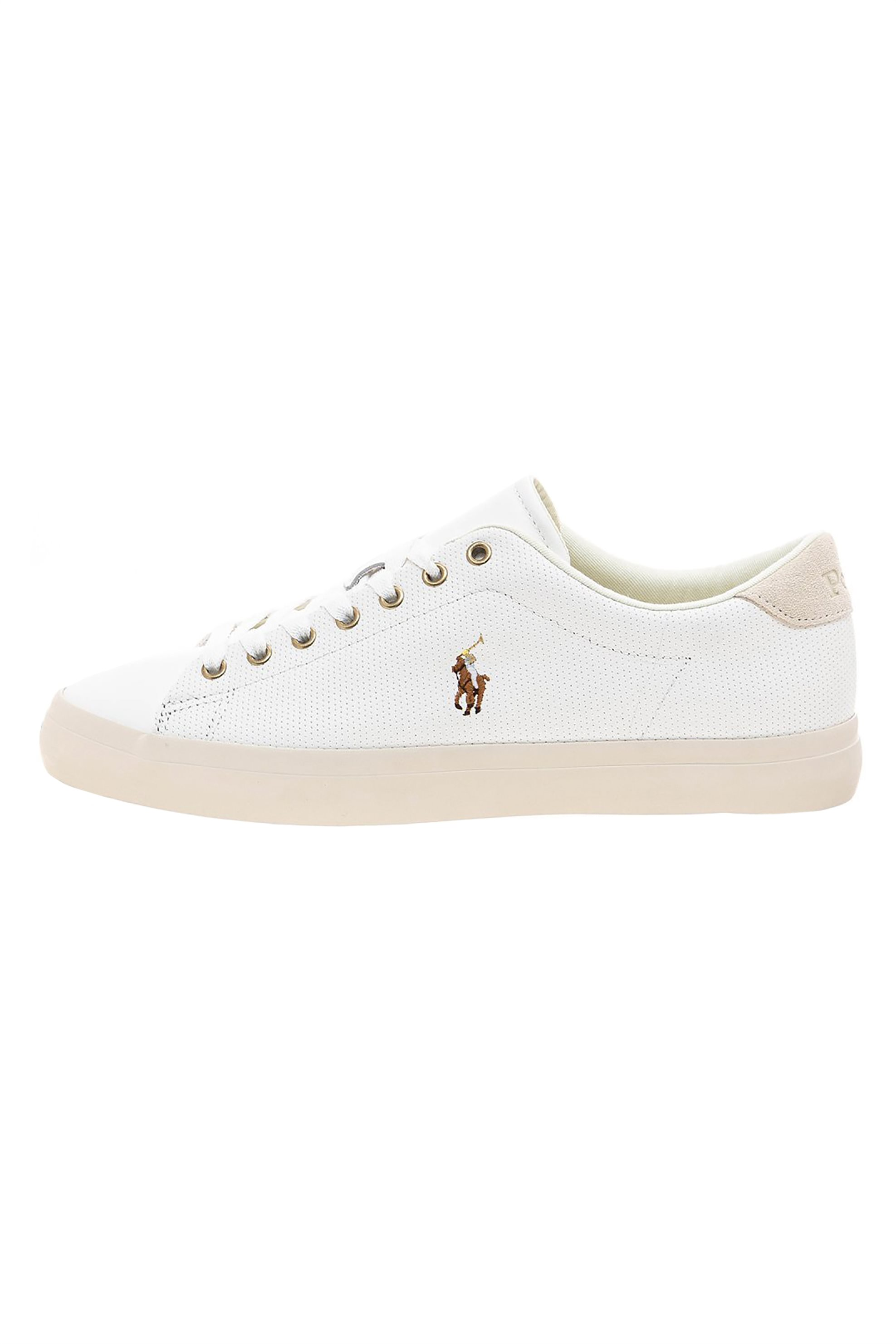 Polo Ralph Lauren ανδρικά δερμάτινα sneakers – 816785025004 – Λευκό