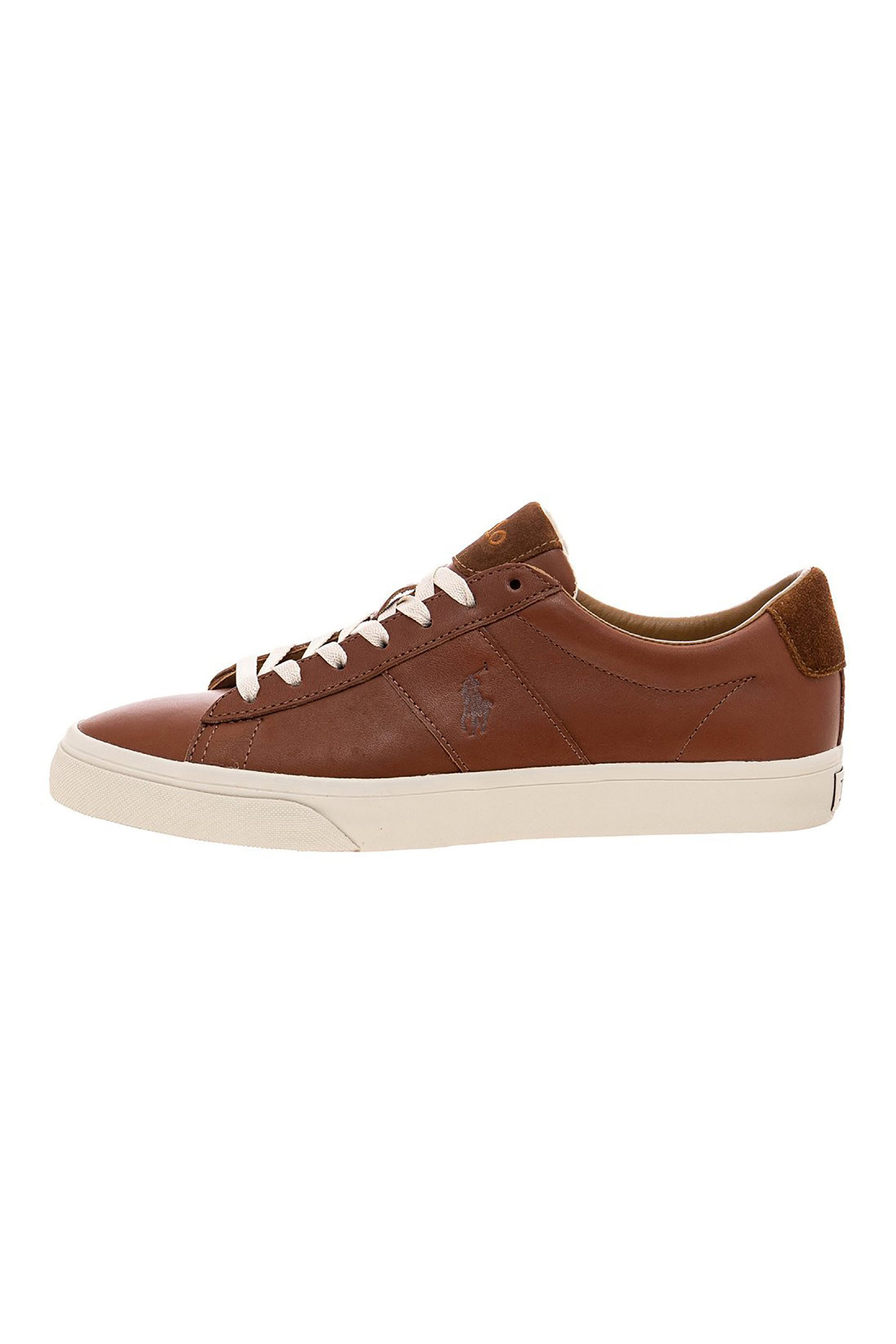 Polo Ralph Lauren ανδρικά δερμάτινα sneakers – 816786745003 – Καφέ