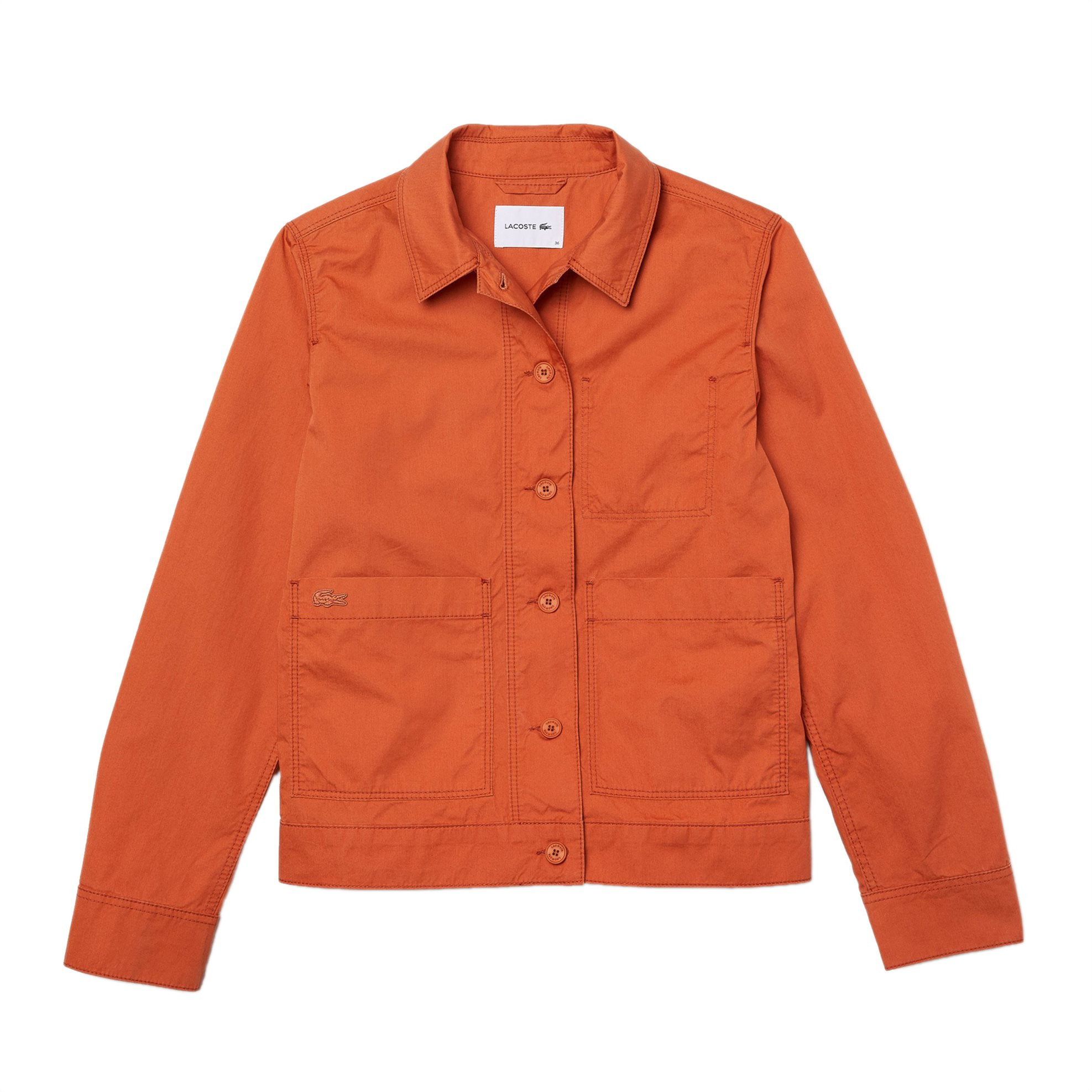 Lacoste γυναικείο jacket με κουμπιά - BF0231 - Πορτοκαλί