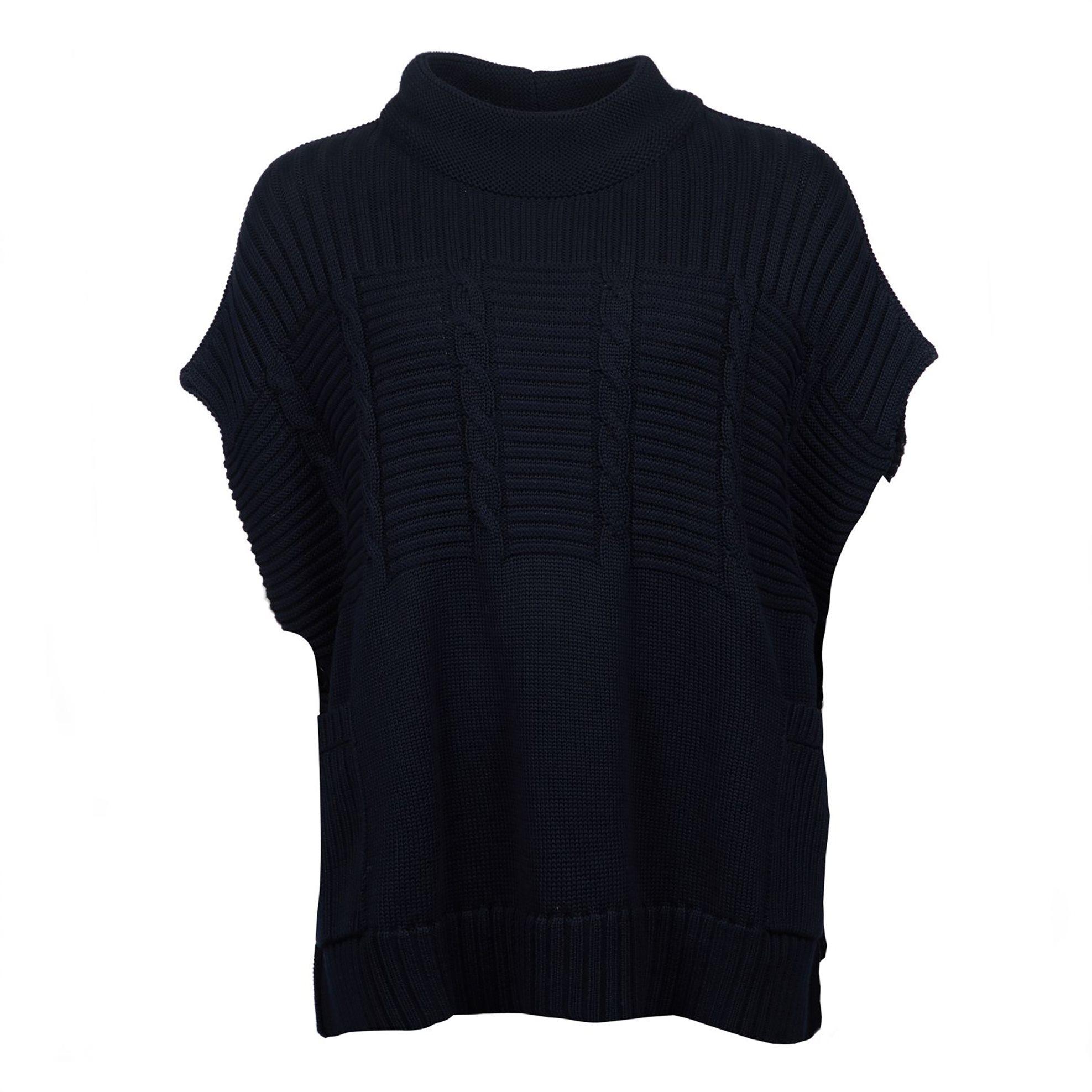 7cae992a0998 Barbour γυναικεία πλεκτή μπλούζα με κουμπιά Sherwood - LKN0887 - Μπλε Σκούρο