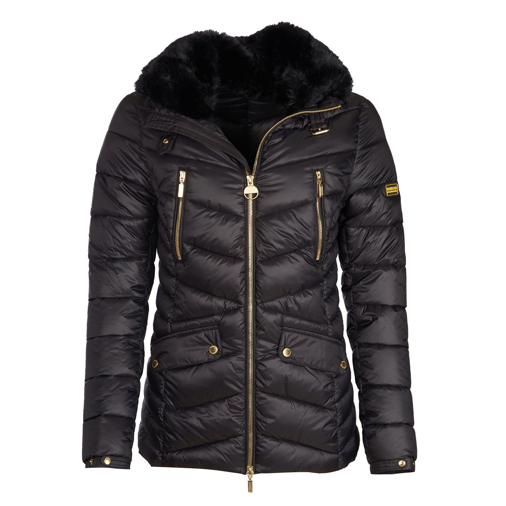 Barbour γυναικείο καπιτονέ μπουφάν Autocross - LQU0938 - Μαύρο γυναικα   ρουχα   πανωφόρια   μπουφάν   σακάκια   μπουφάν