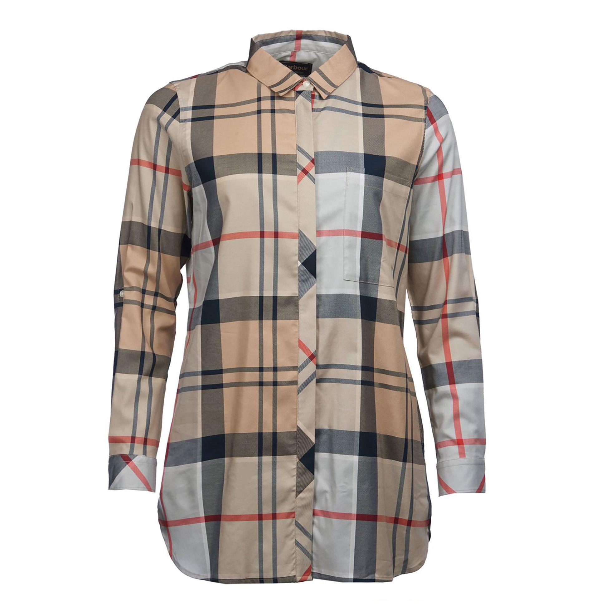 Barbour γυναικεία πουκαμίσα καρό Balmedie - LSH1186 - Μπεζ γυναικα   ρουχα   tops   πουκάμισα   πουκαμίσες   καφτάνια   casual