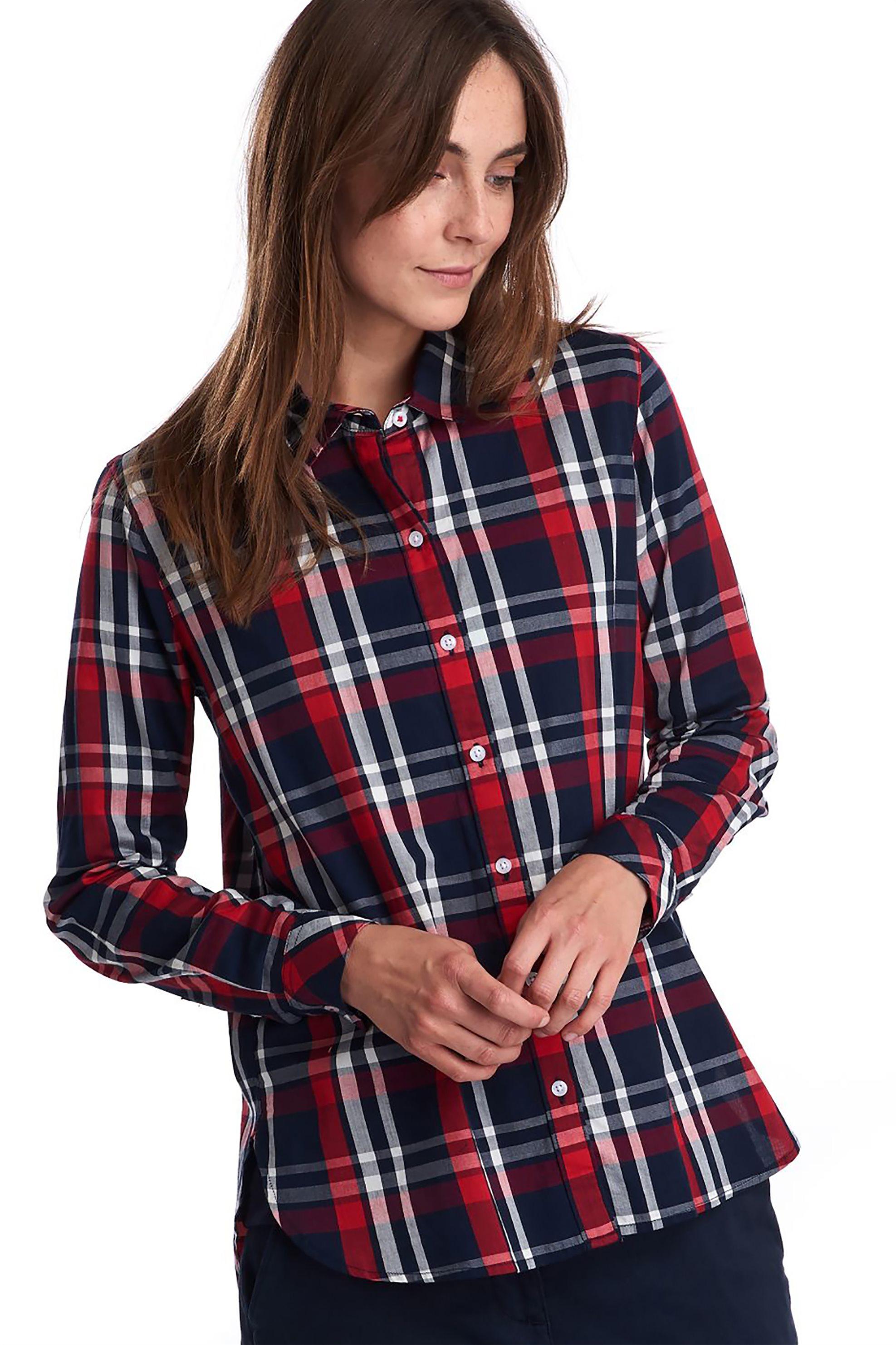 "Barbour γυναικείο πουκάμισο καρό ""Cheviot"" - LSH1268 - Μπλε ..."