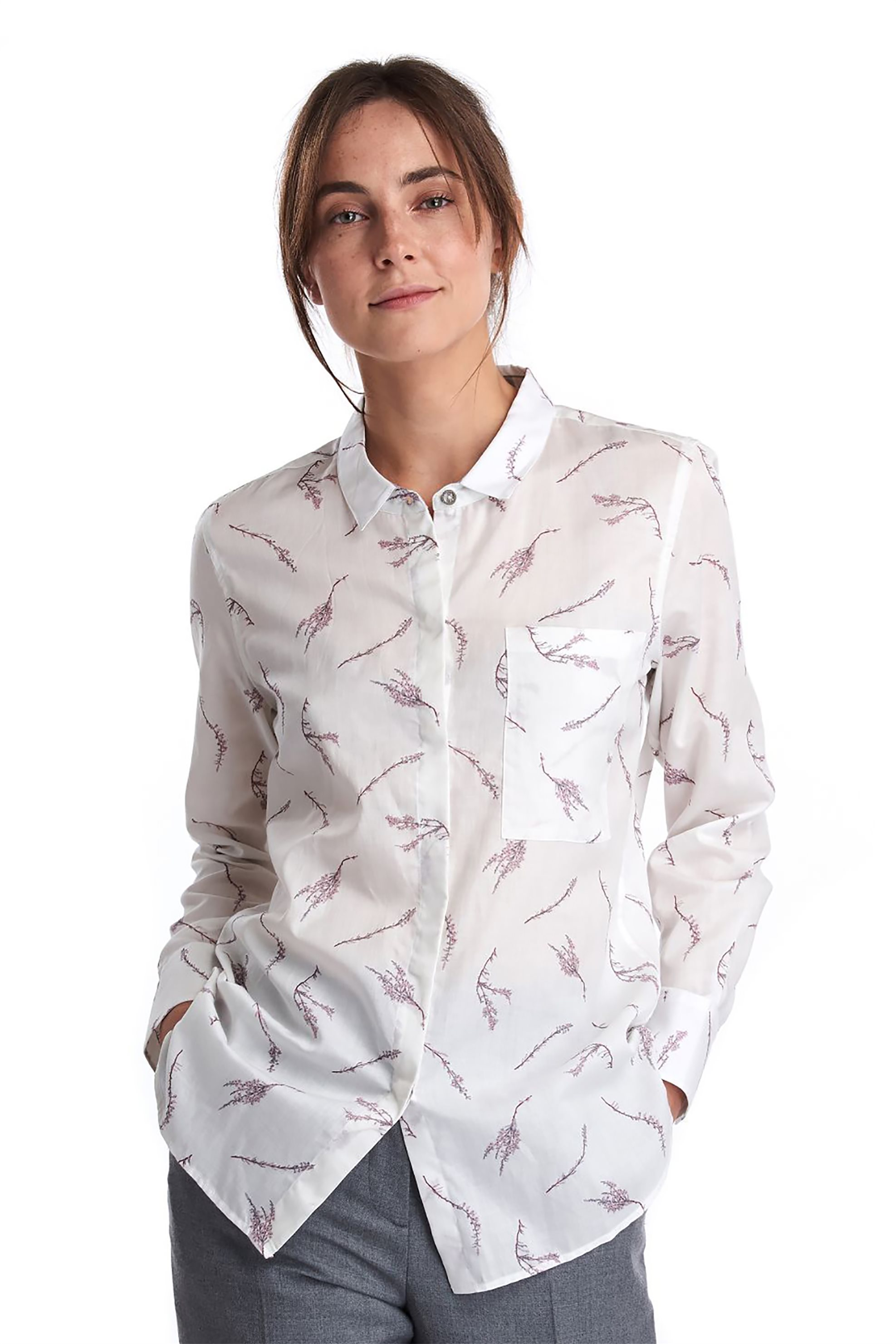 "Barbour γυναικείο πουκάμισο με all-over print ""Reid"" - LSH12..."