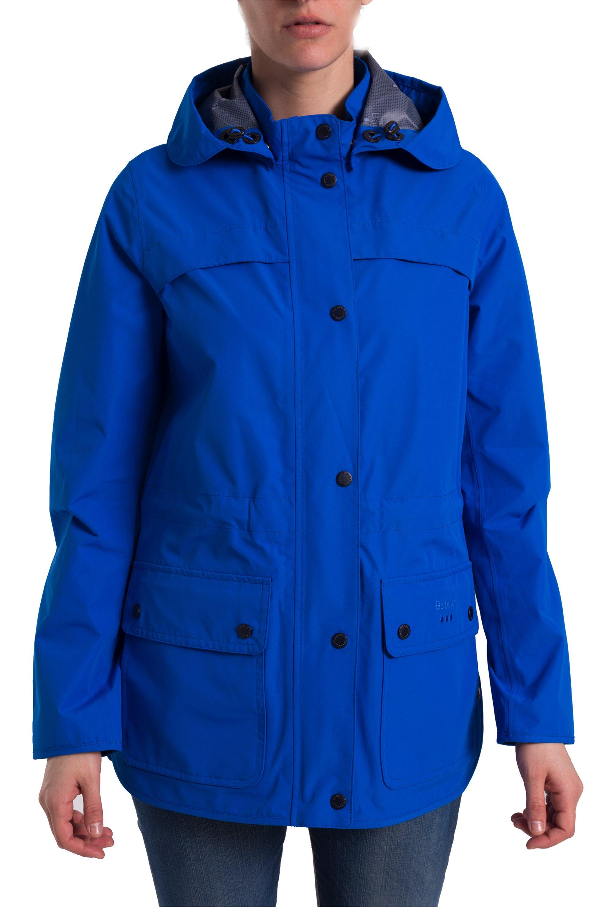 28adcbdc7b9 Γυναικείο αδιάβροχο μπουφάν με κουκούλα Barometer Barbour - LWB0460 - Μπλε