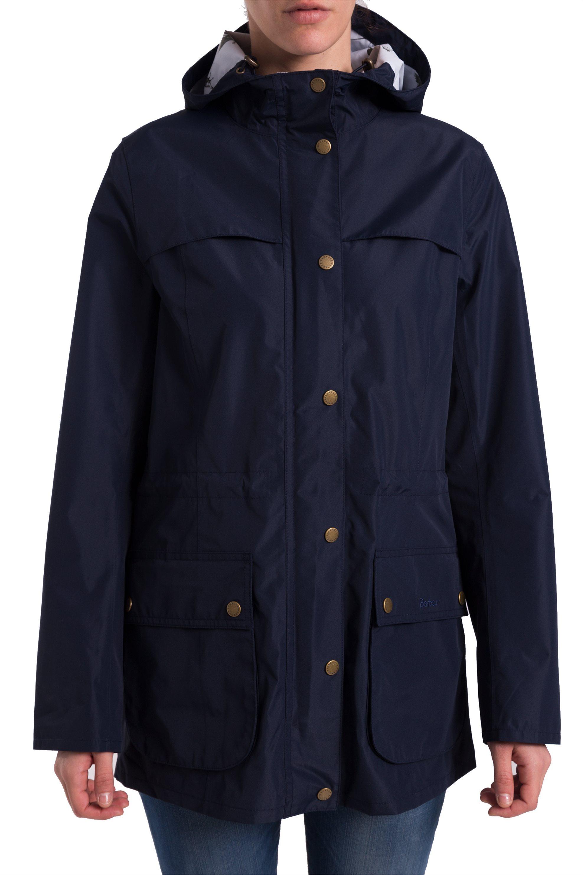 Γυναικείο αδιάβροχο μπουφάν Brimhham με κουκούλα Barbour - LWB0466 - Μπλε  Σκούρο 6cebd0a318d