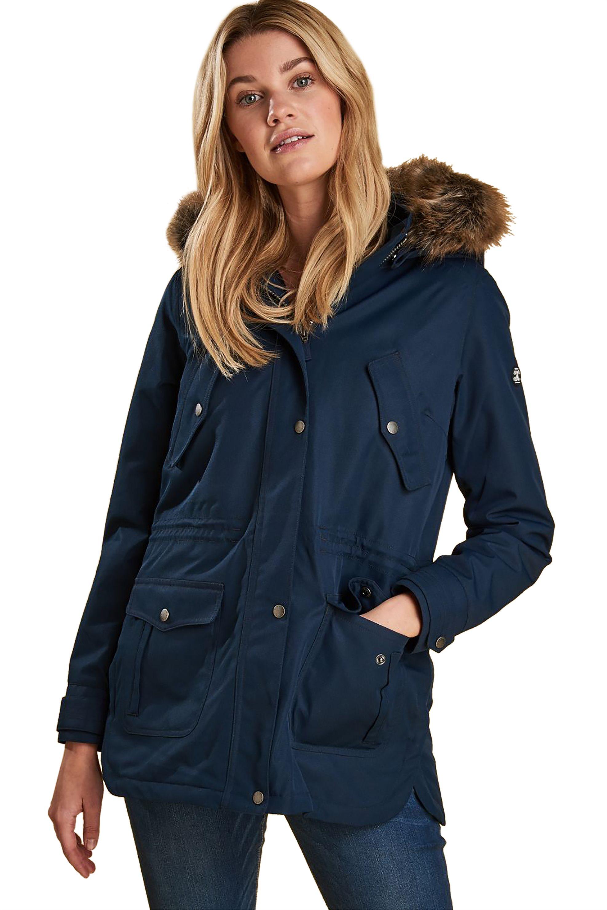 31096d6293f Barbour γυναικείο αδιάβροχο μπουφάν με κουκούλα - LWB0486 - Μπλε Σκούρο