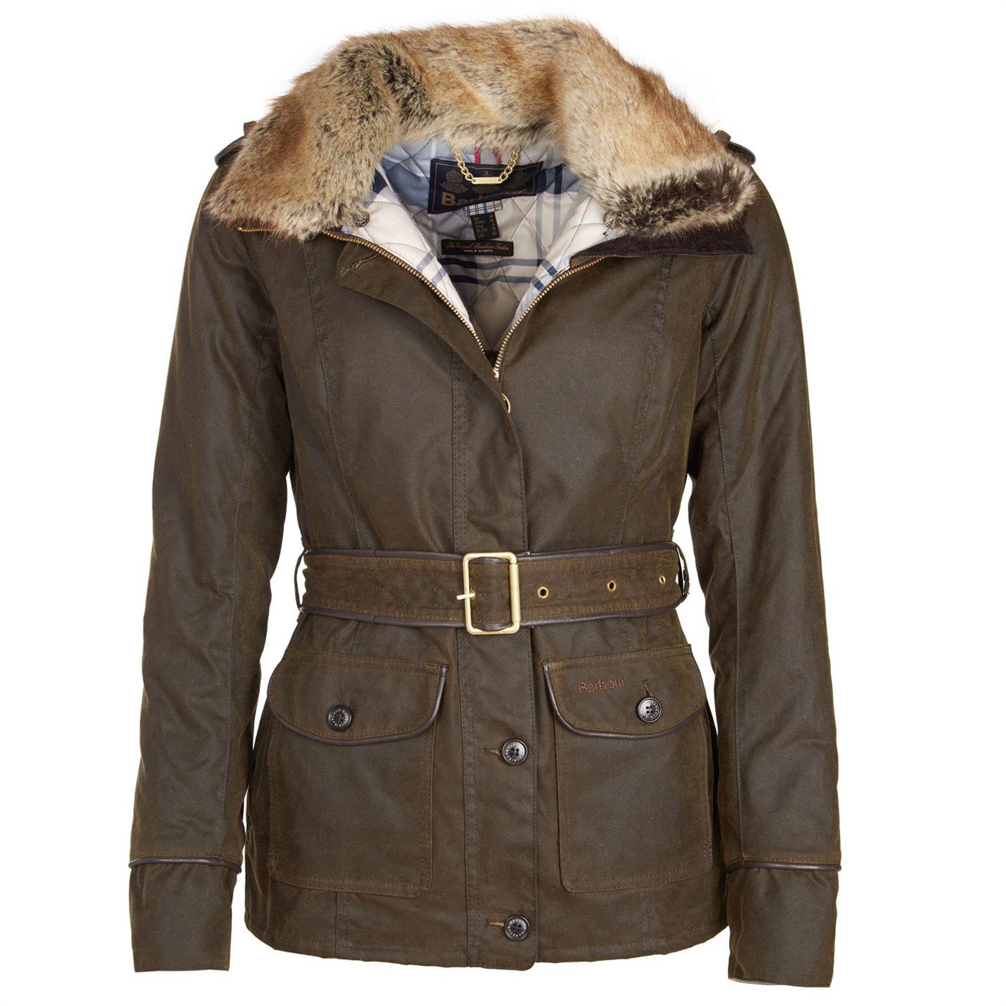 Barbour γυναικείο μπουφάν Stirling με κουκούλα - LWX0872 - Λαδί γυναικα   ρουχα   πανωφόρια   μπουφάν   σακάκια   μπουφάν