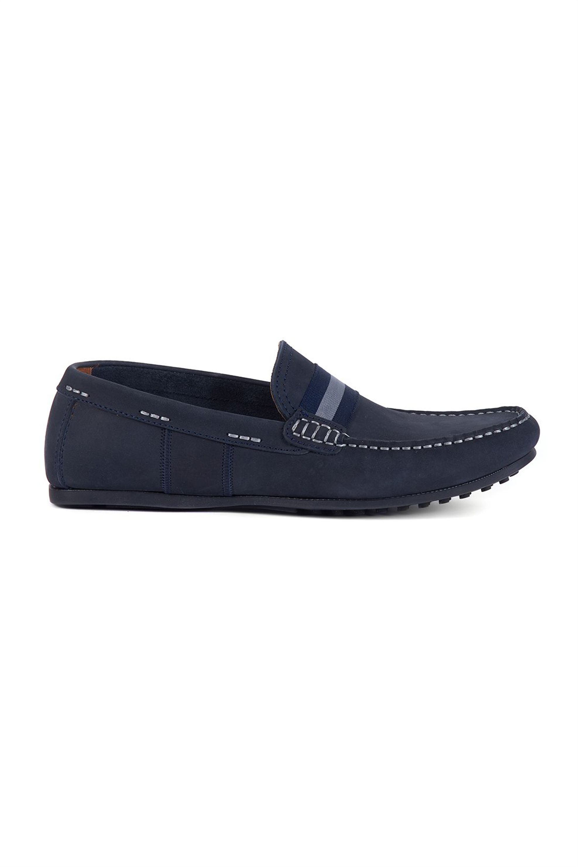 """Barbour ανδρικά suede loafers """"Mansell"""" – MFO0472 – Μπλε Σκούρο"""