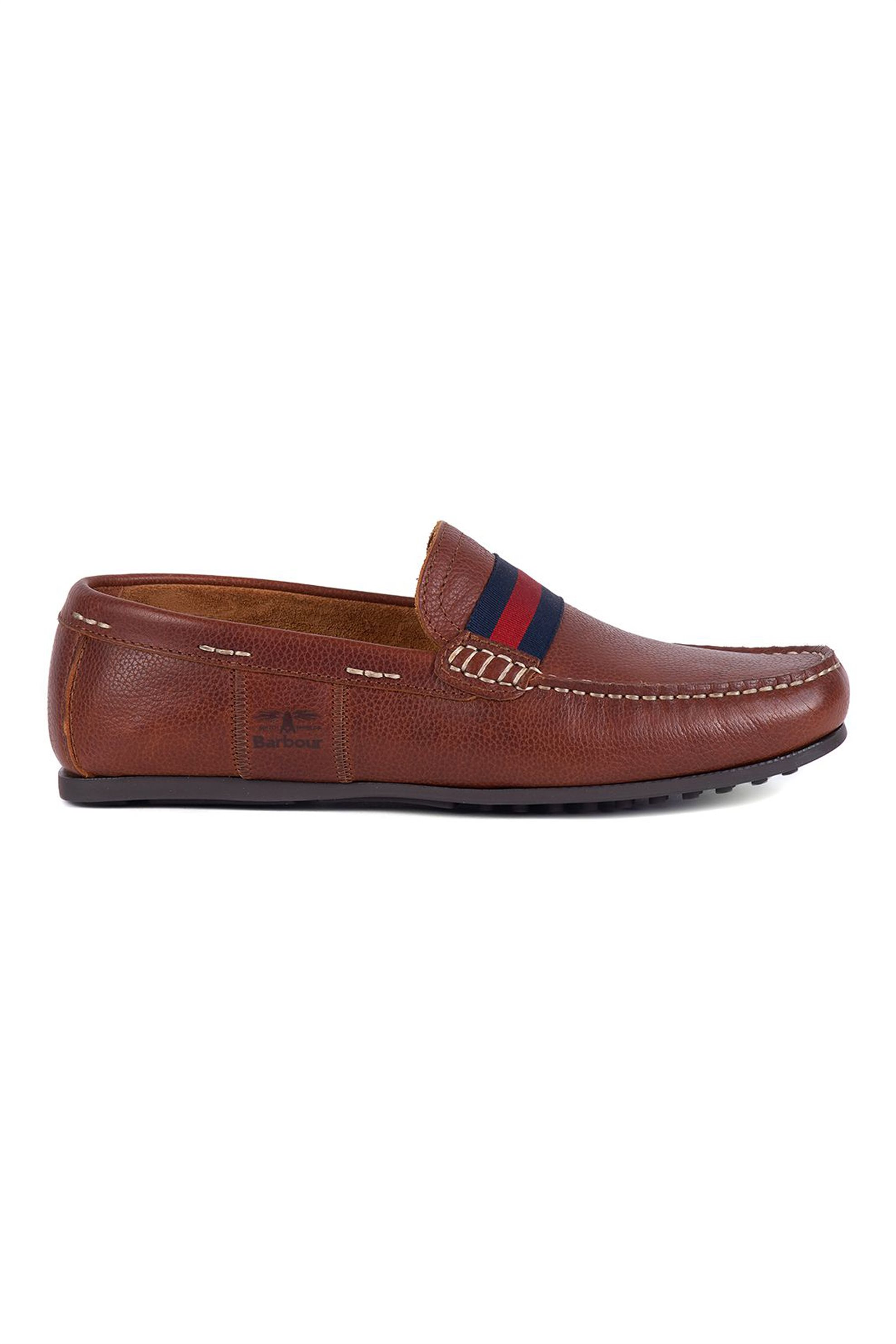 """Barbour ανδρικά suede loafers """"Mansell"""" – MFO0472 – Ταμπά"""