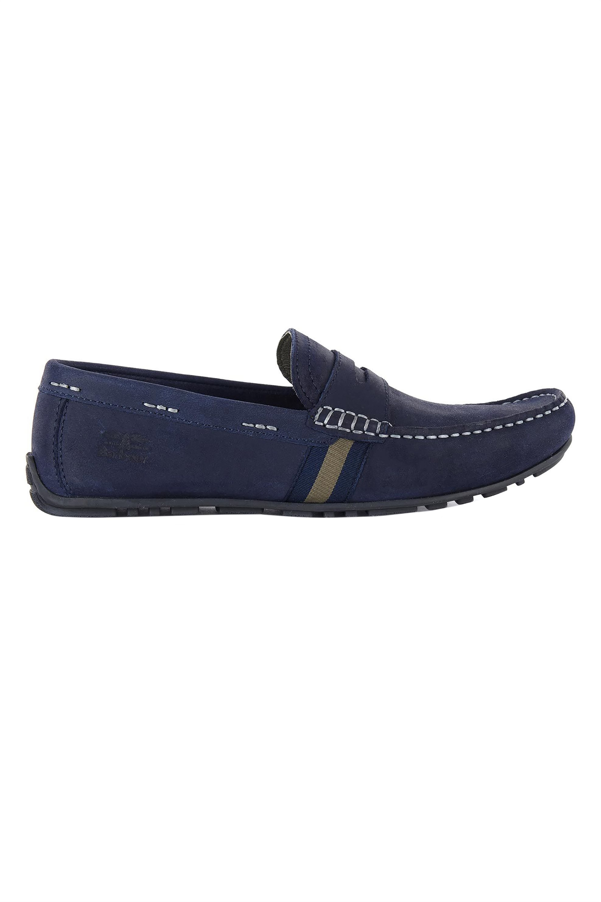 "Barbour ανδρικά loafers με ανάγλυφο λογότυπο ""Moss"" – MFO0531 – Μπλε Σκούρο"
