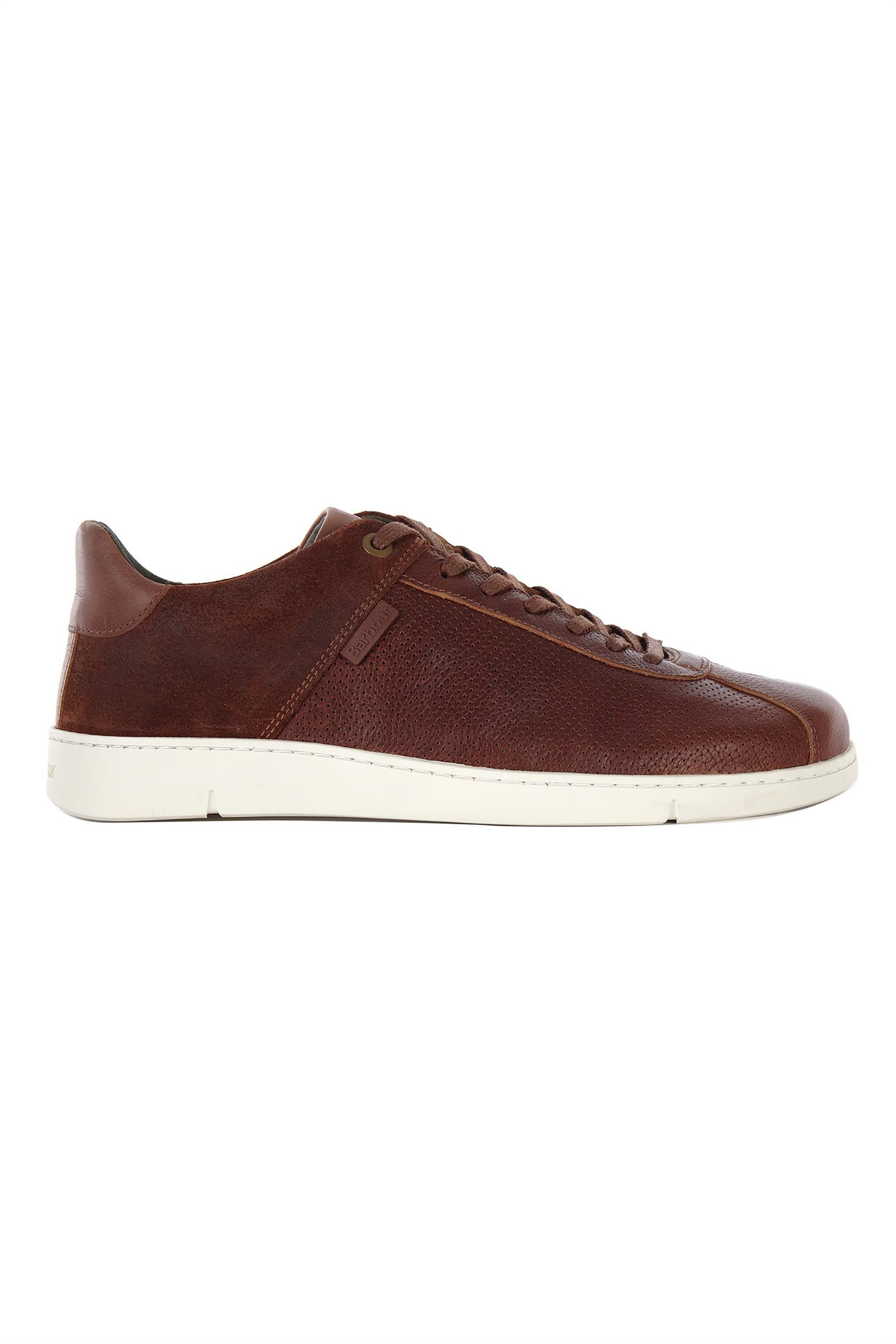 """Barbour ανδρικά δερμάτινα sneakers με suede επτομέρεια """"Bushtail"""" – MFO0539 – Ταμπά"""
