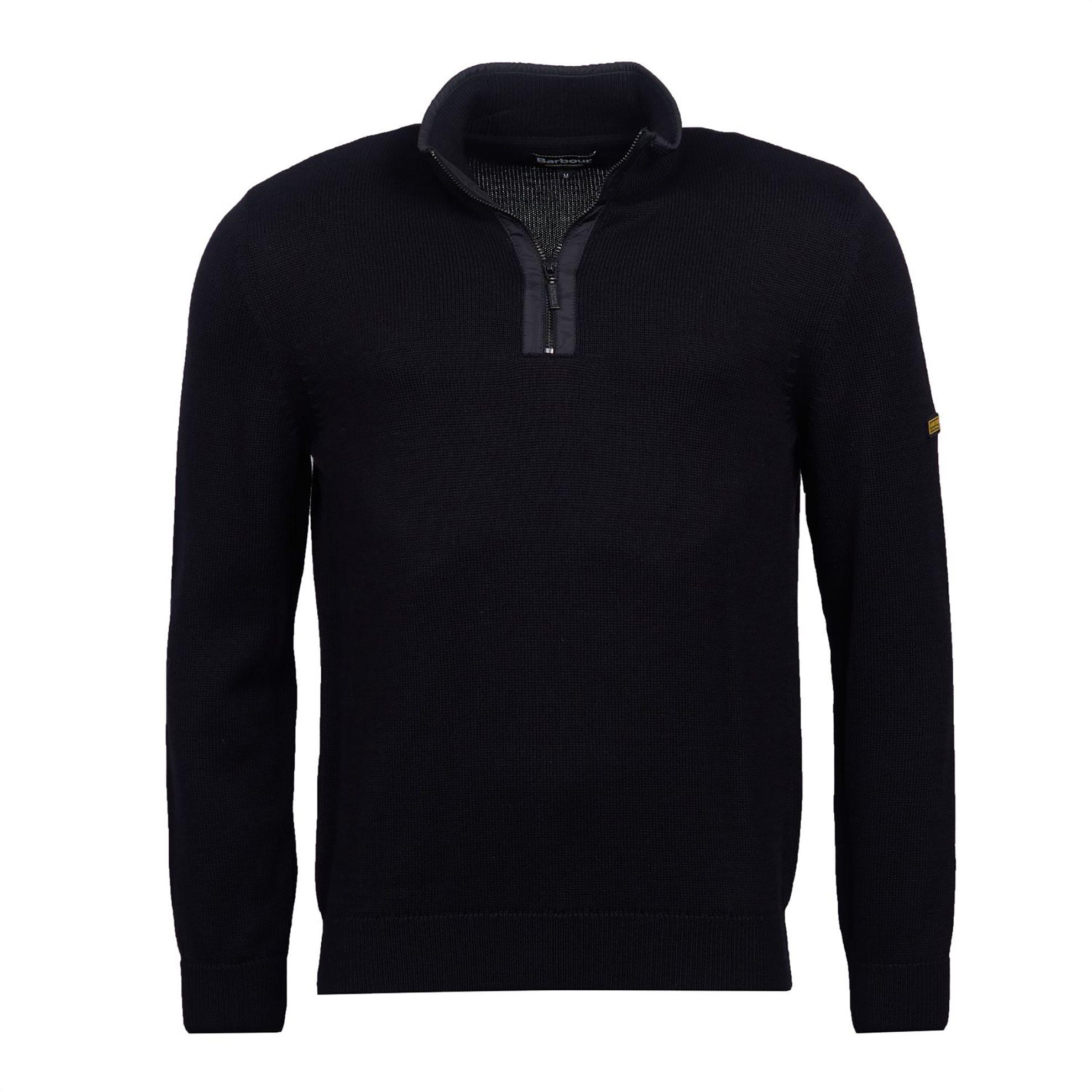 Barbour ανδρικό πλεκτό με φερμουάρ 3/4 - MKN1150 - Μαύρο ανδρασ   ρουχα   πλεκτά   πουλόβερ