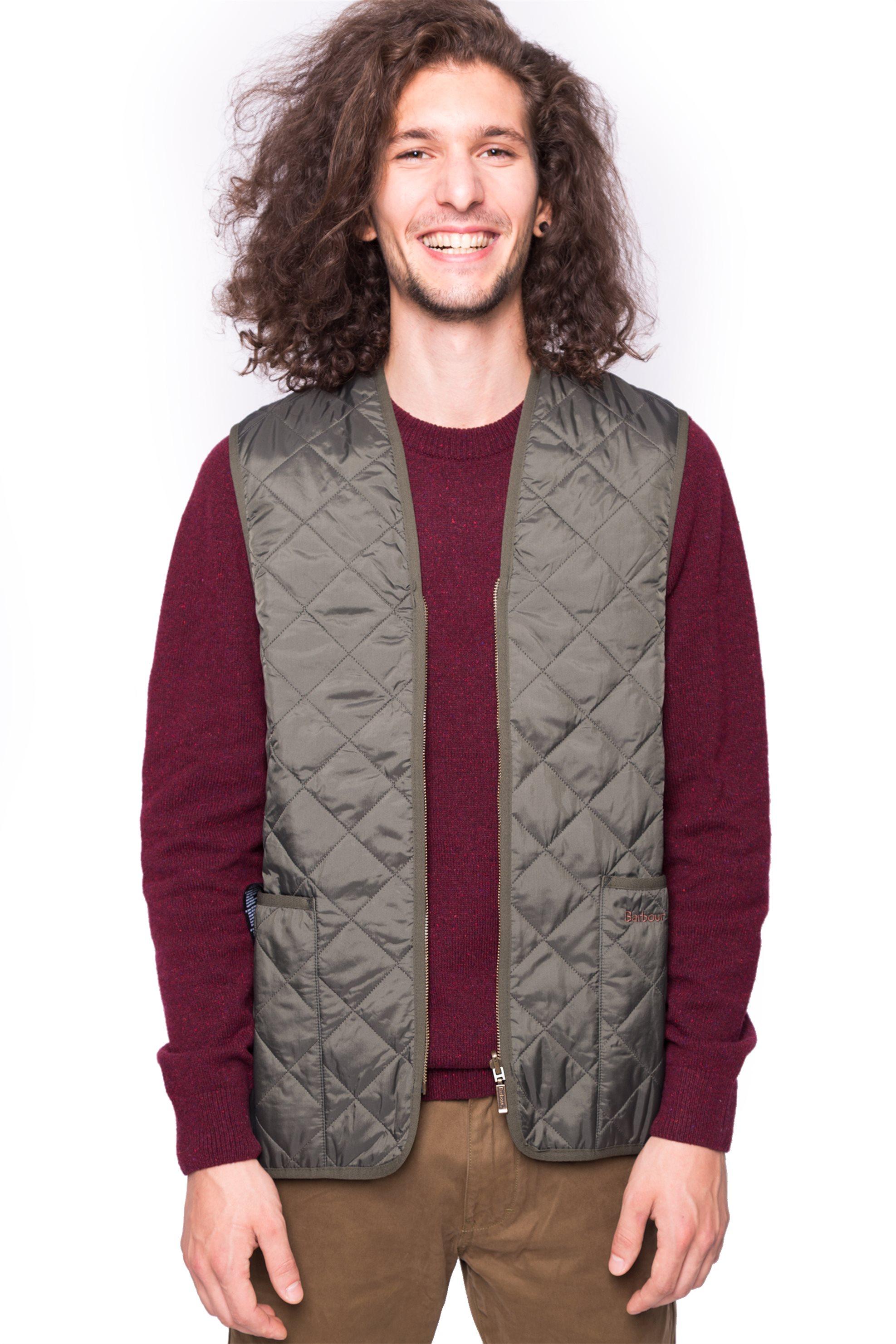 Barbour ανδρικό μπουφάν αμάνικο - MLI0001 - Λαδί ανδρασ   ρουχα   παλτό   μπουφάν   αμάνικα