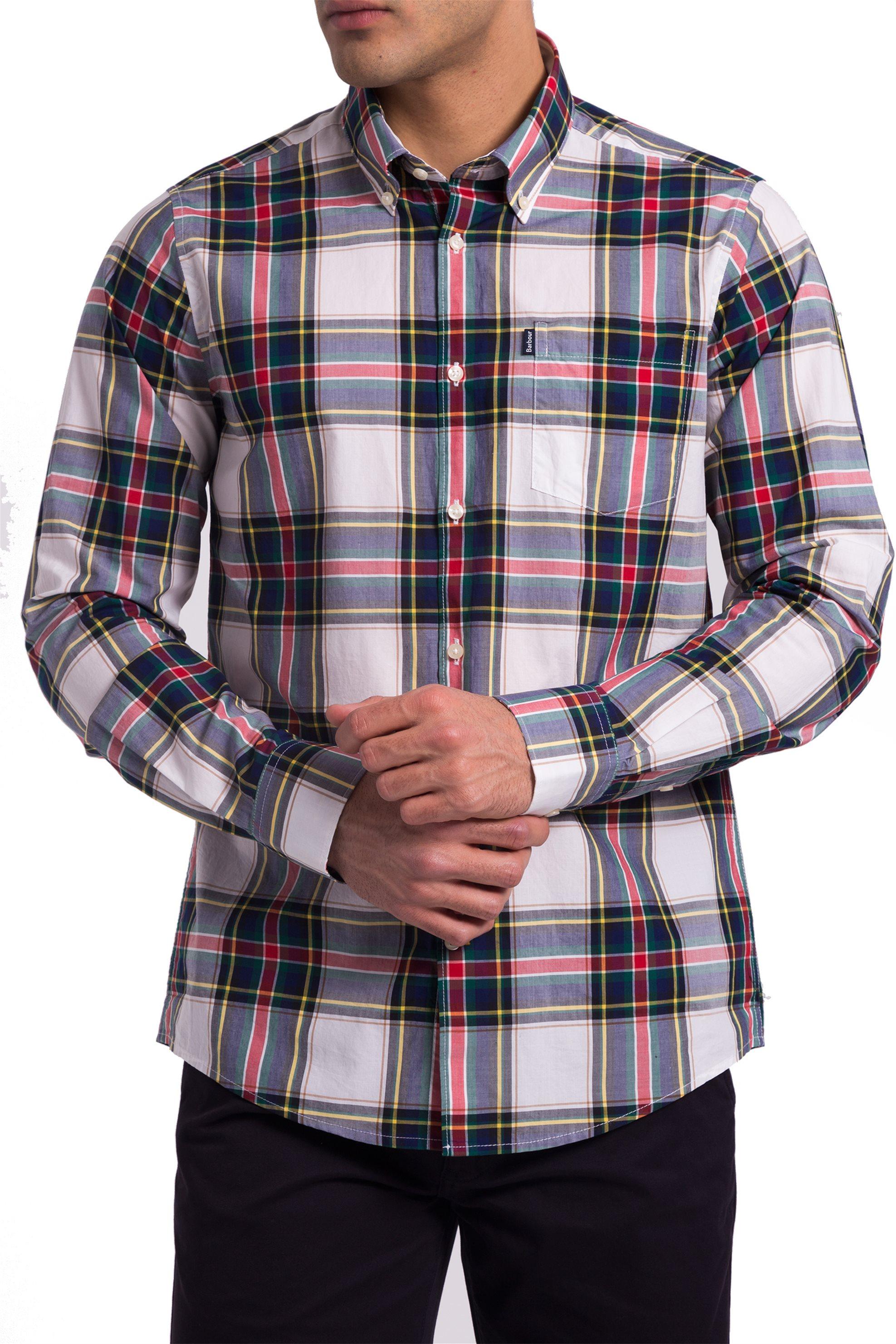 2ccbe4ba92e2 Ανδρικό καρό πουκάμισο Barbour - MSH4163 - Κόκκινο