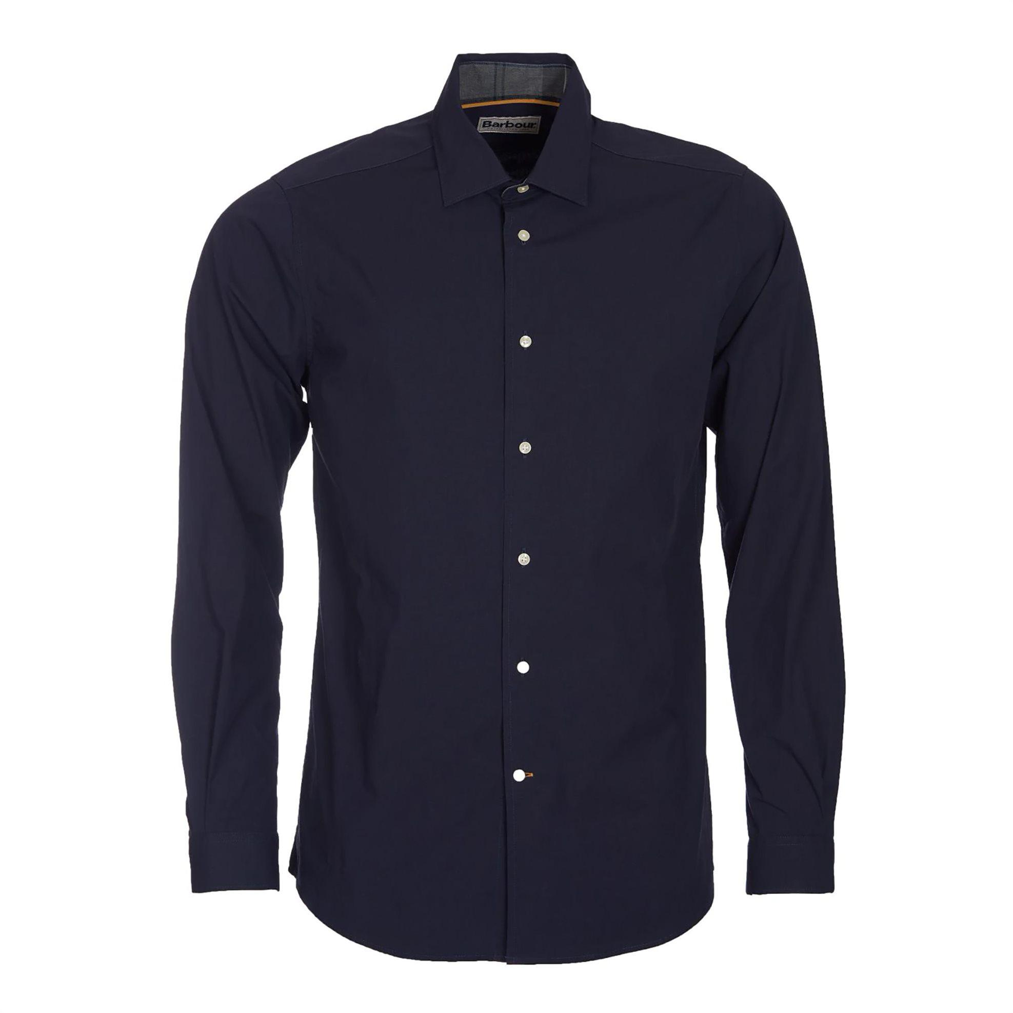 Barbour ανδρικό πουκάμισο ποπλίνα μονόχρωμο - MSH4363 - Μπλε Σκούρο ανδρασ   ρουχα   πουκάμισα   επίσημα   βραδυνά