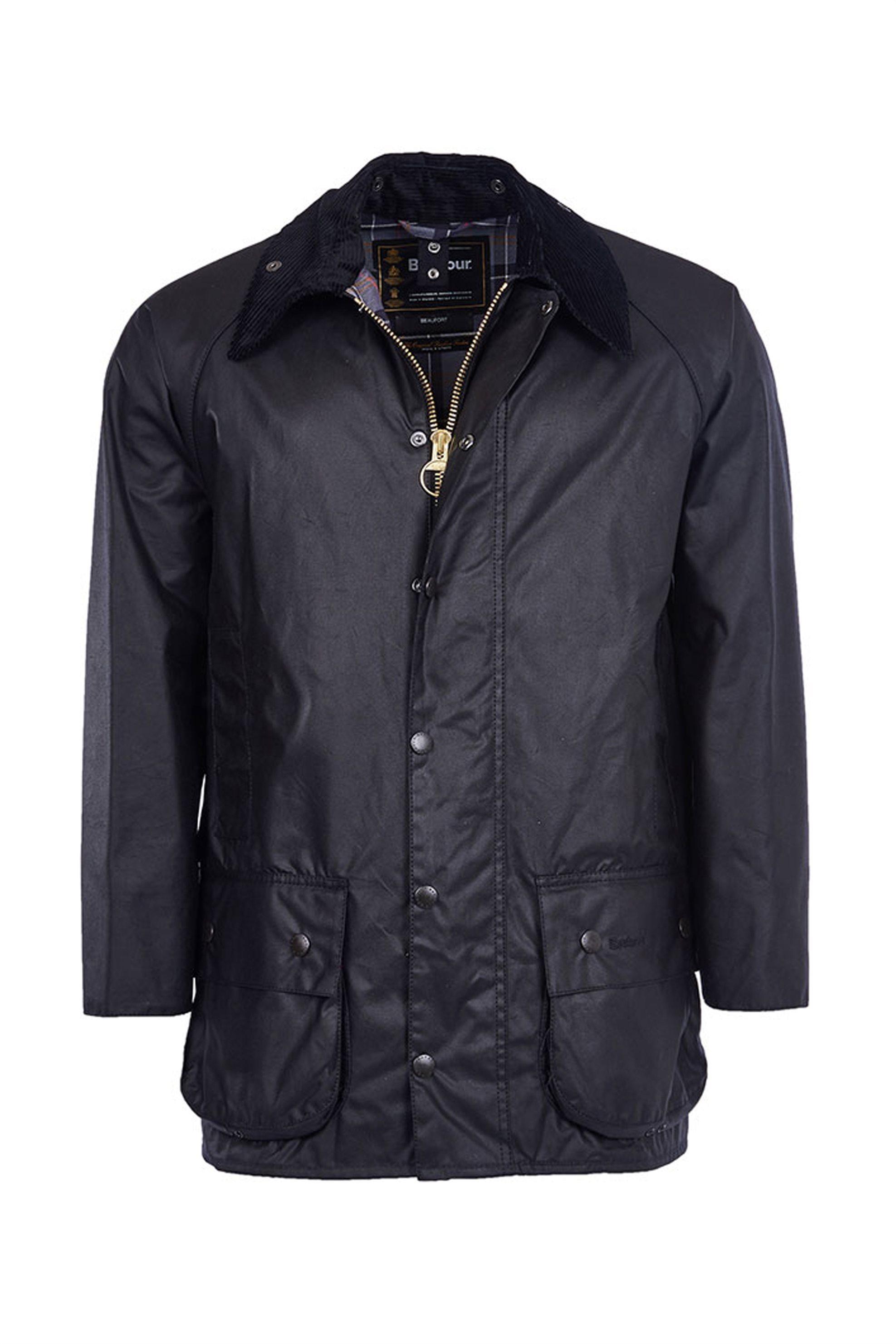 Notos Barbour ανδρικό κερωμένο μπουφάν Beaufort jacket - MWX0017 - Μαύρο 9c30c8df700