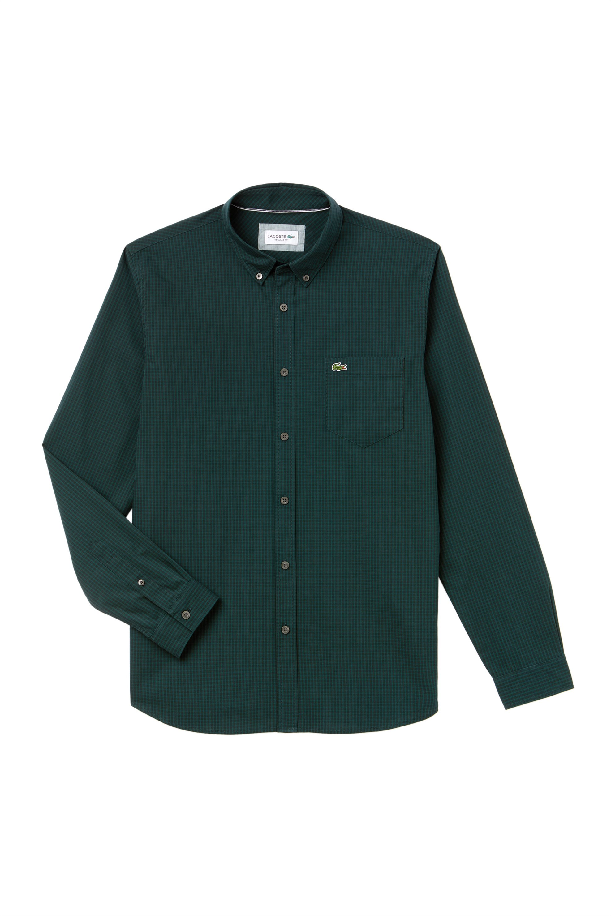 433aed688c60 Lacoste ανδρικό πουκάμισο με καρό σχέδιο - CH0483 - Κυπαρισσί
