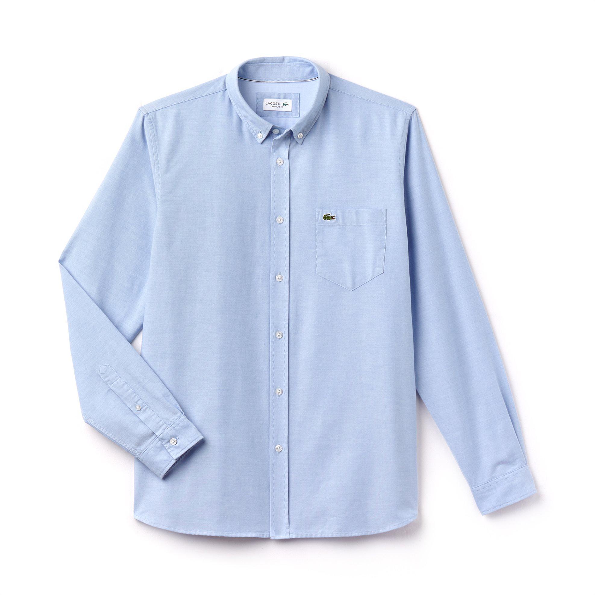Ανδρικό πουκάμισο μονόχρωμο Spring Bloom Lacoste - CH4976 - Ανοιχτό Γαλάζιο ανδρασ   ρουχα   πουκάμισα   casual   επίσημα   βραδυνά
