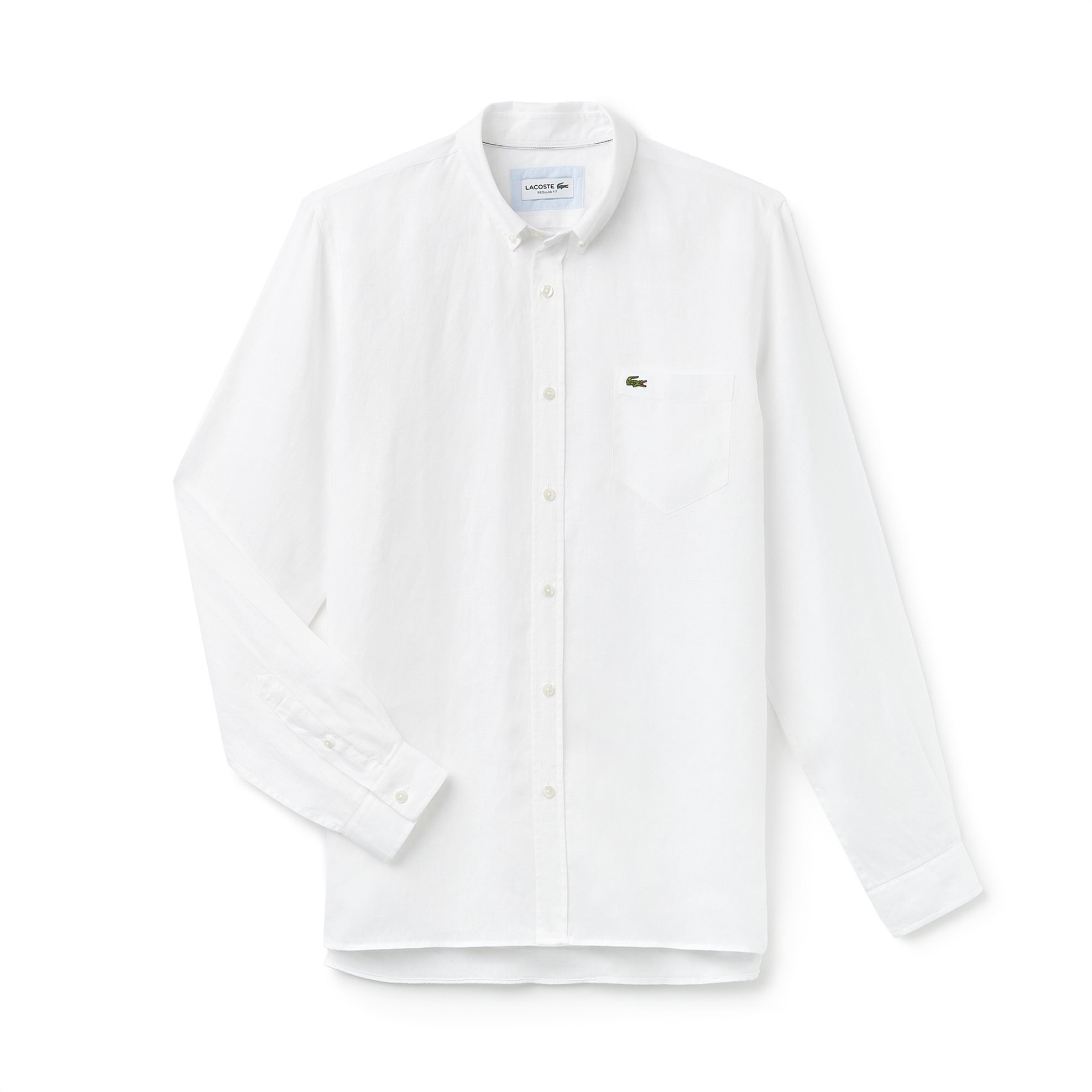 Ανδρικό πουκάμισο λινό Spring Bloom Lacoste - CH4990 - Λευκό ανδρασ   ρουχα   πουκάμισα   casual   επίσημα   βραδυνά