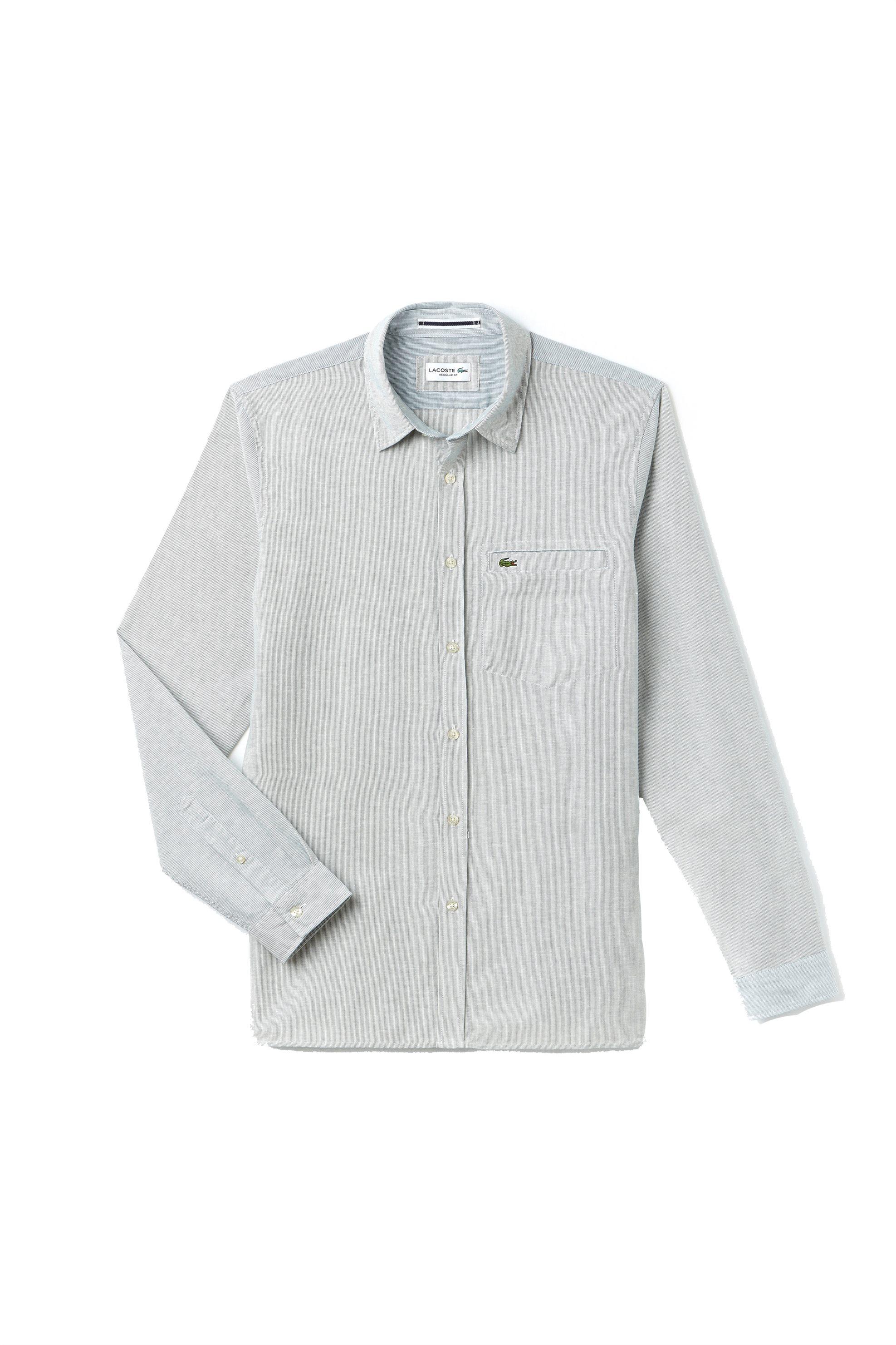 Ανδρικό ριγέ πουκάμισο Spring Bloom S/S 2018 Collection Lacoste - CH4999 - Κυπαρ ανδρασ   ρουχα   πουκάμισα   casual