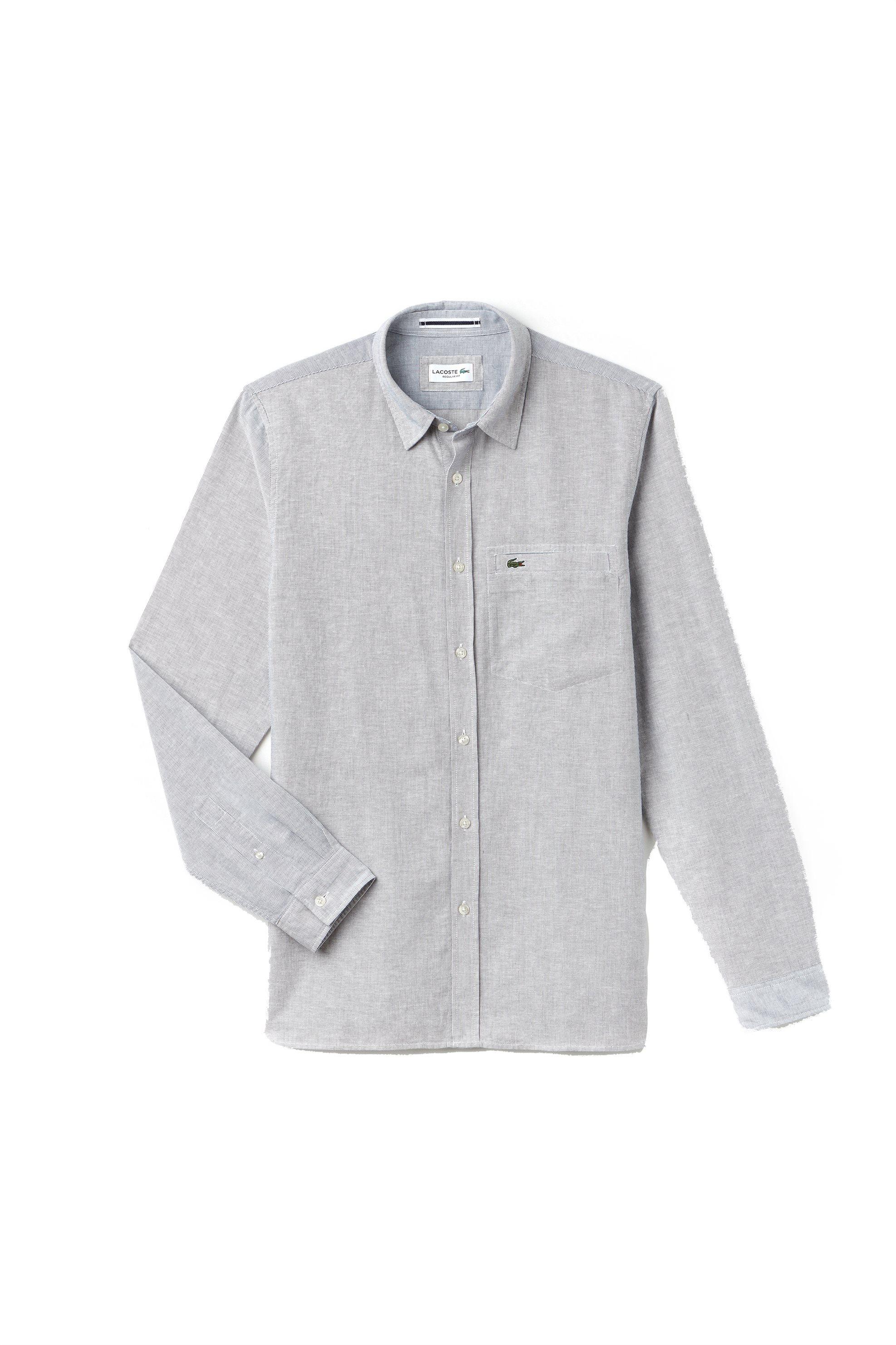 Ανδρικό ριγέ πουκάμισο Spring Bloom S/S 2018 Collection Lacoste - CH4999 - Μπλε  ανδρασ   ρουχα   πουκάμισα   casual