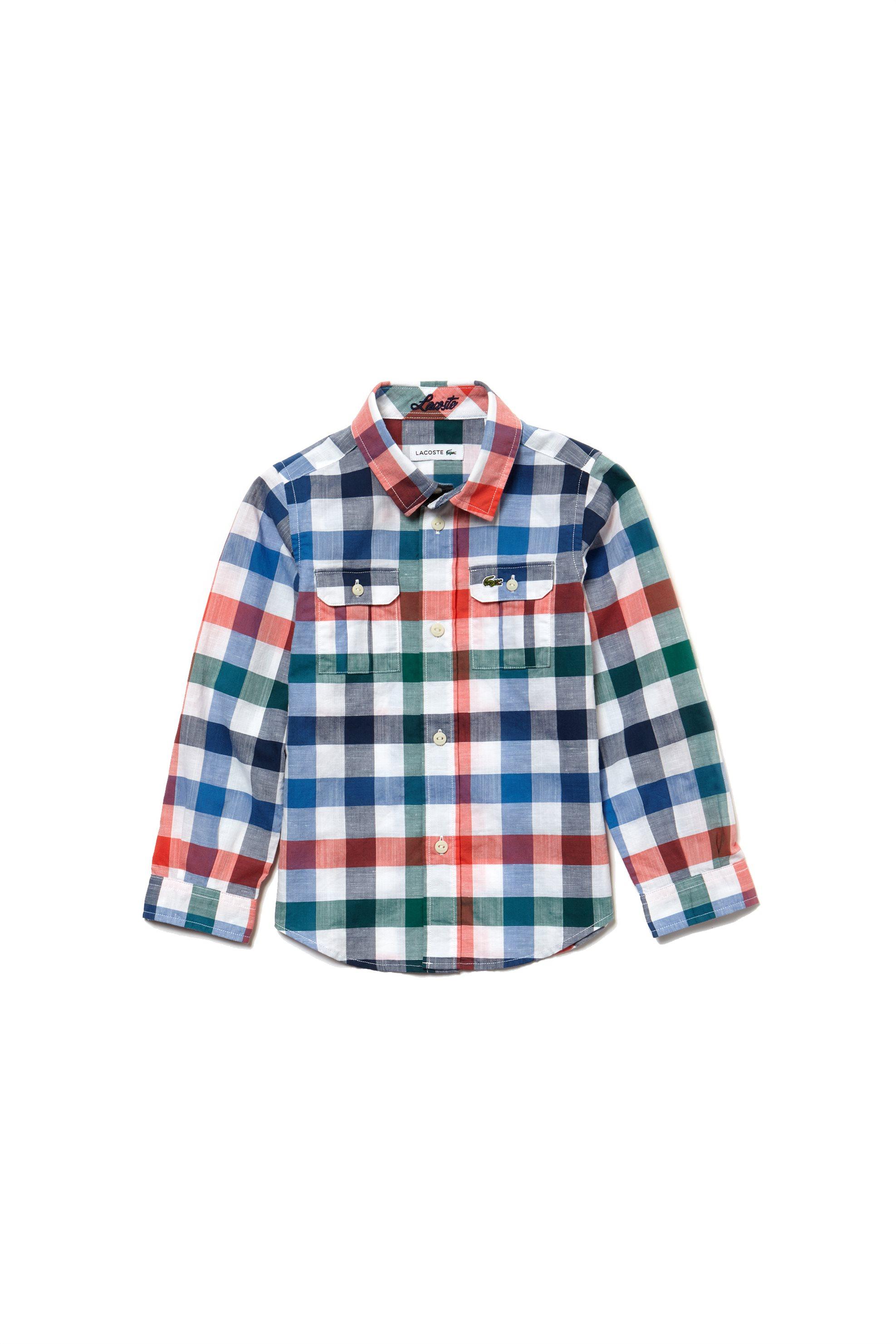 d93cfdf8e12 Notos Παιδικό πουκάμισο καρό S/ S 2018 Kids Collection Lacoste - CJ3874 -  Πολύχρωμο