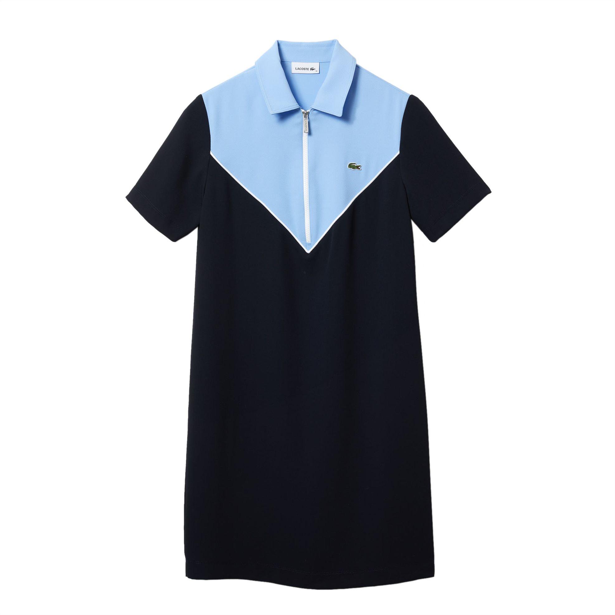 Lacoste γυναικείο mini φόρεμα colourblocked - EF0225 - Μαύρο