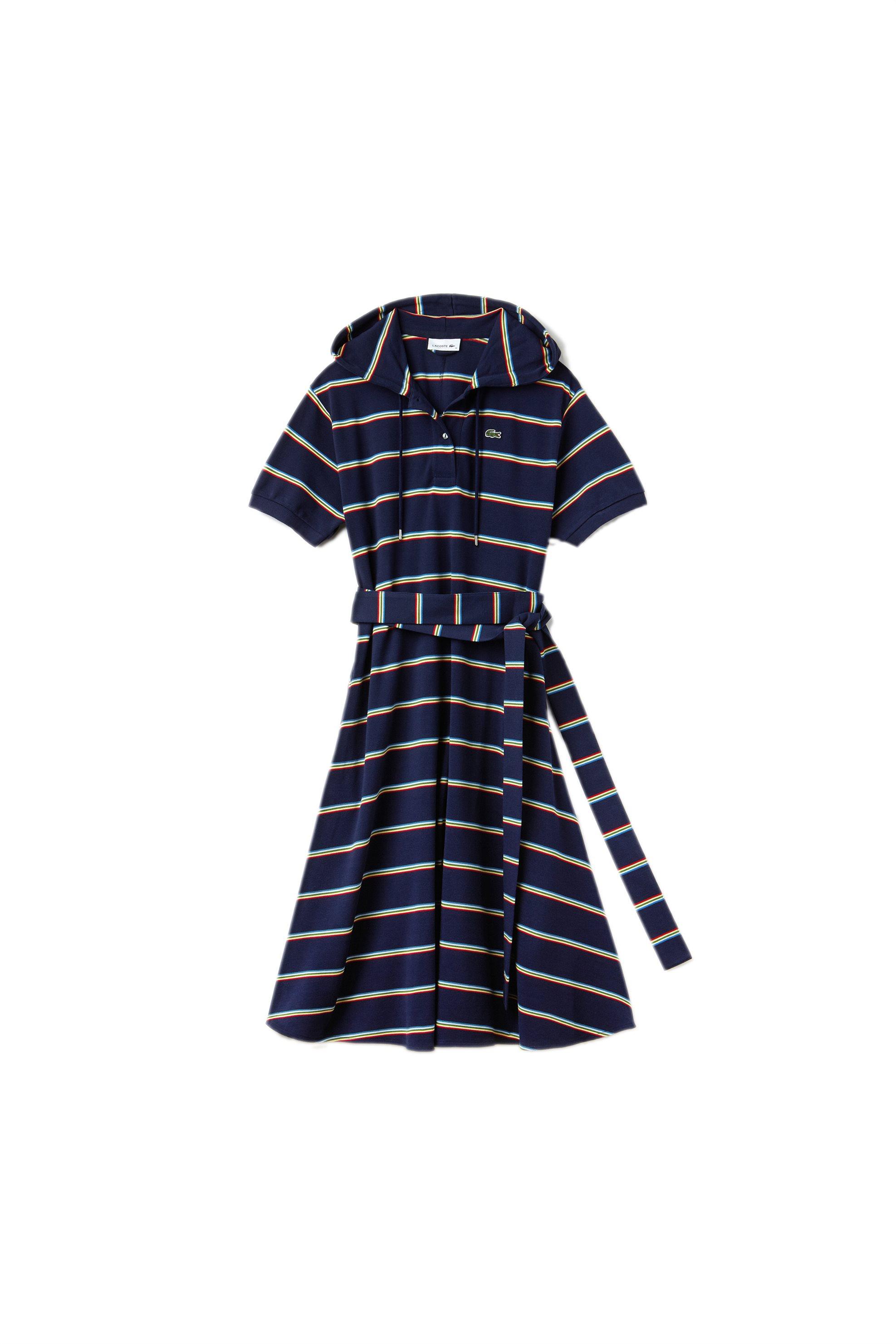 Γυναικείο polo πικέ φόρεμα Spring Bloom S/S 2018 Collection Lacoste - EF3084 - Μ γυναικα   ρουχα   φορέματα   midi φορέματα