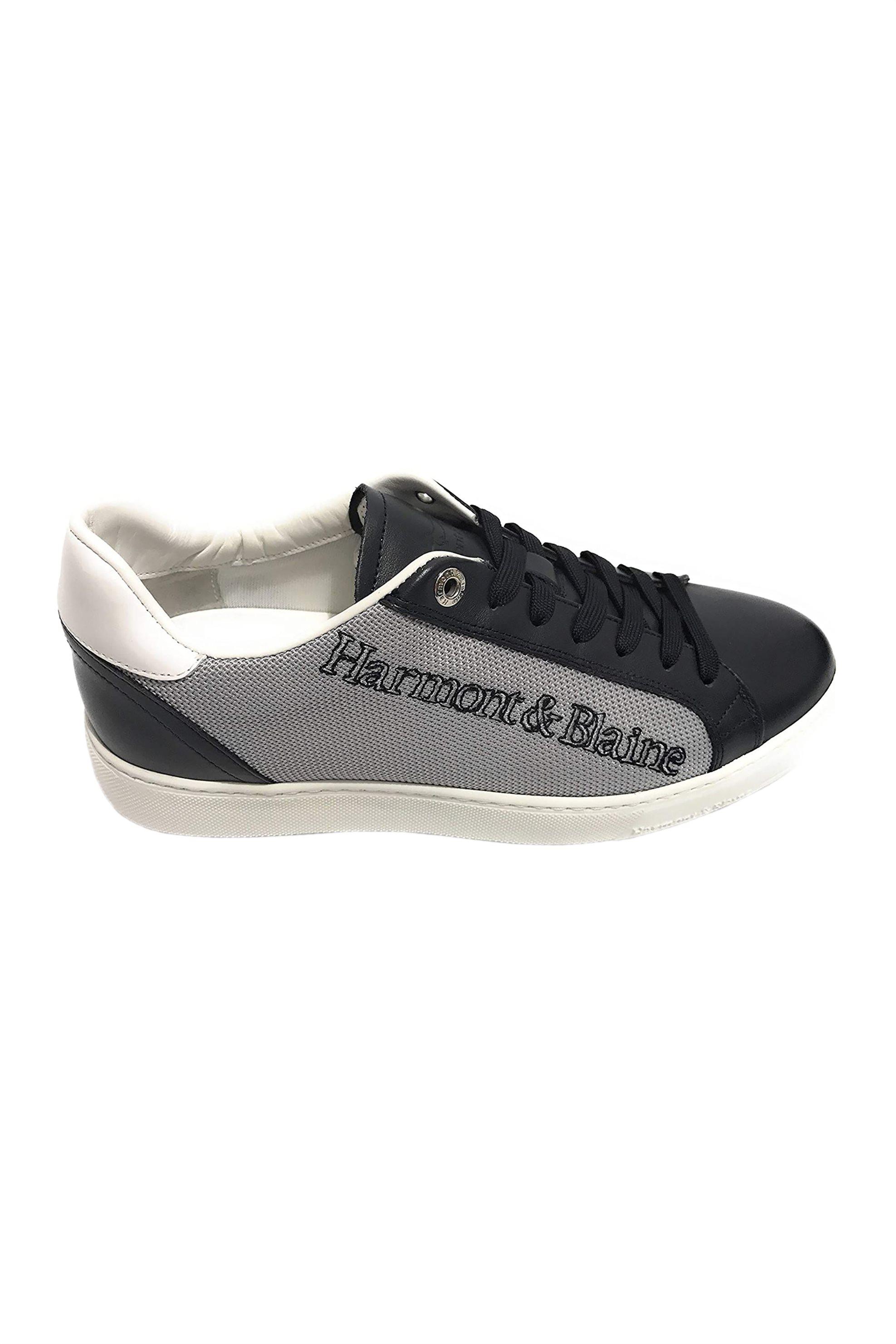 Harmont & Blaine ανδρικά sneakers με lettering κέντημα – EFM201034-6220 – Μπλε Σκούρο