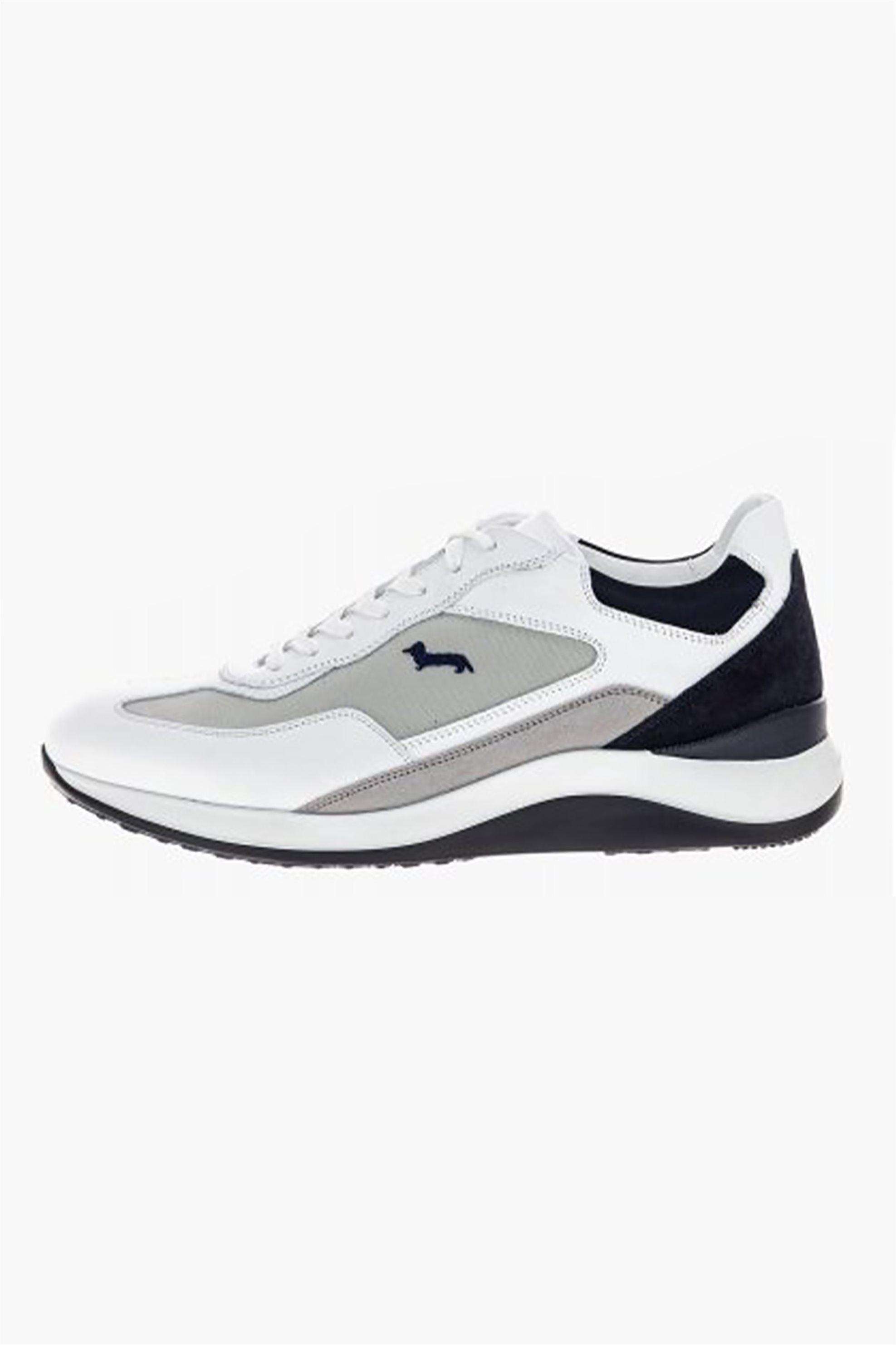 Harmont & Blaine ανδρικά sneakers με suede λεπτομέρειες και κεντημένο logo – EFM201061-6310 – Λευκό