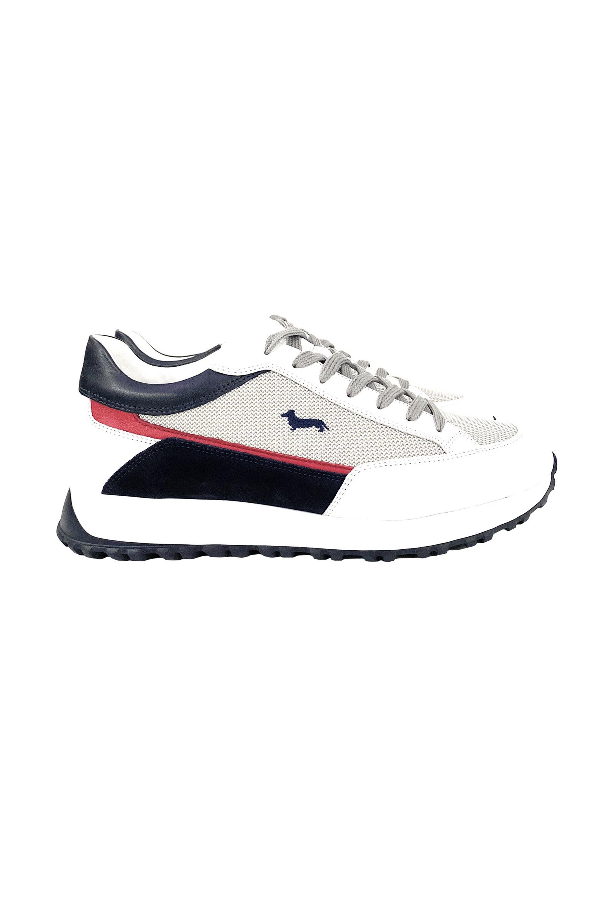 Harmont & Blaine ανδρικά sneakers με suede λεπτομέρειες και κεντημένο logo – EFM211050-6080 – Άσπρο