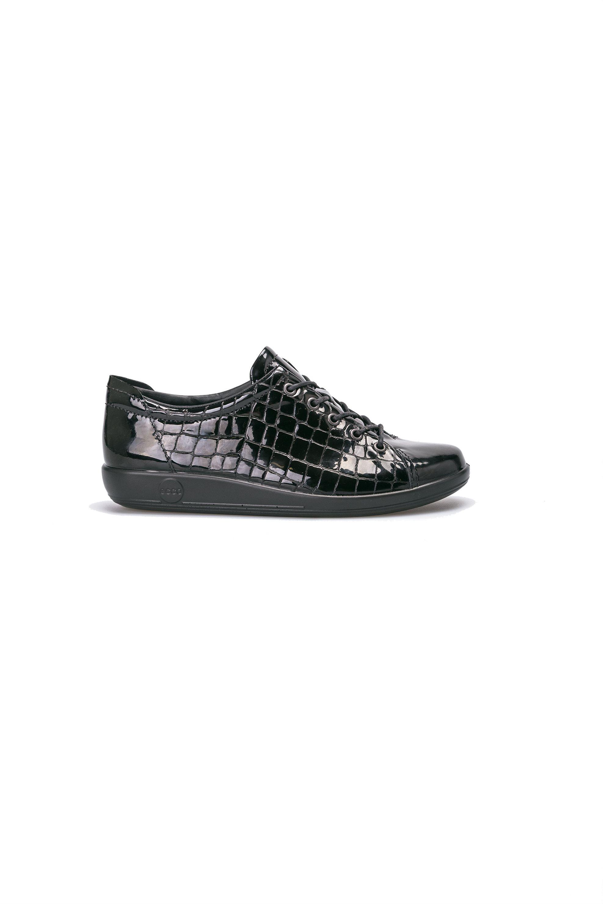 ΕCCO γυναικεία παπούτσια με κορδόνια Soft 2.0 – 206503 – Μαύρο