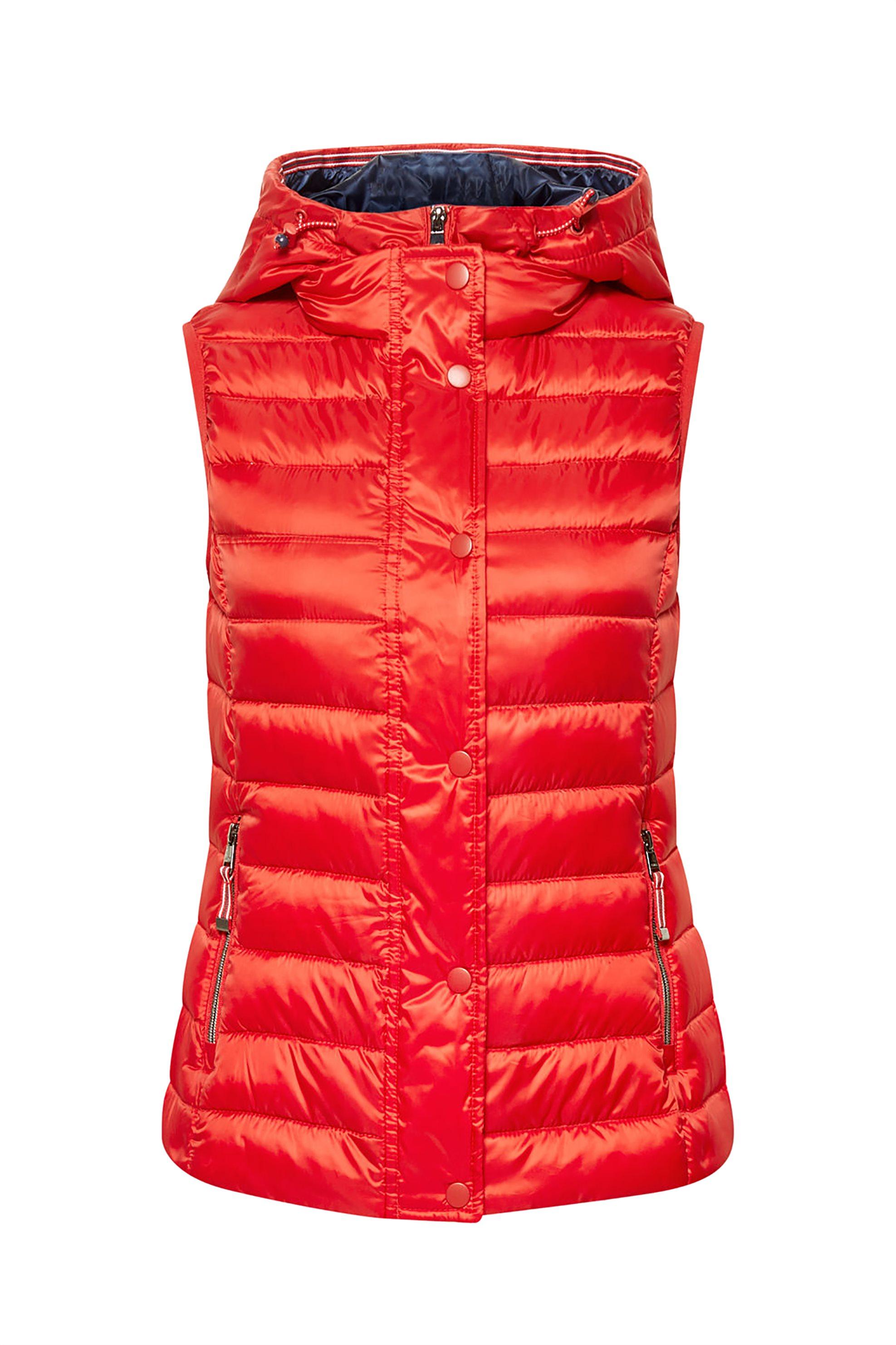 Esprit γυναικείο αμάνικο καπιτονέ μπουφάν με κουκούλα - 019EE1H001 - Κόκκινο γυναικα   ρουχα   πανωφόρια   μπουφάν   σακάκια   αμάνικα μπουφάν