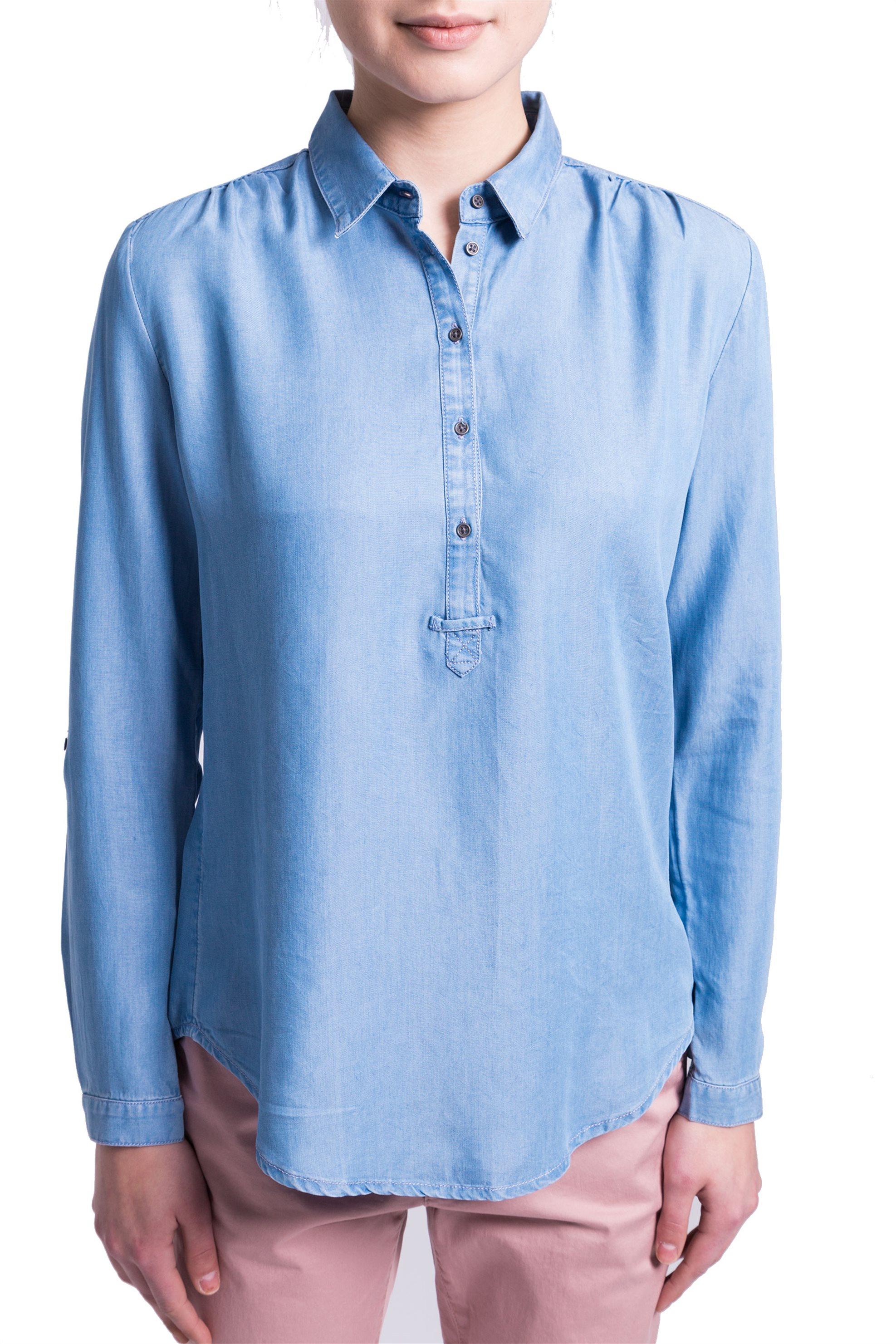 Γυναικεία μπλούζα Esprit - 028EE1F033 - Γαλάζιο γυναικα   ρουχα   tops   πουκάμισα   μπλούζες   casual