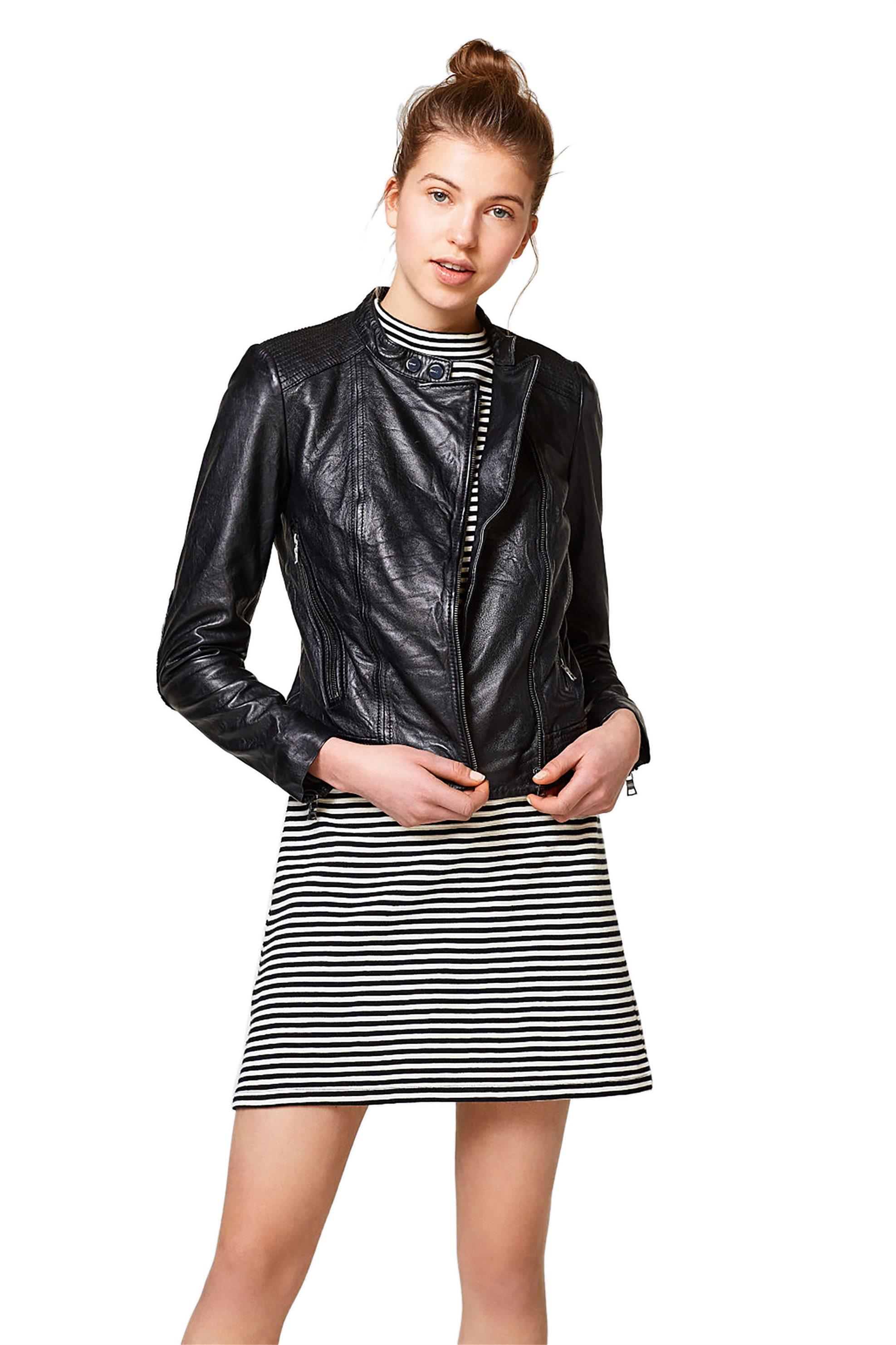 Γυναικείο δερμάτινο biker τζάκετ Esprit - 028EE1G010 - Μαύρο γυναικα   ρουχα   πανωφόρια   μπουφάν   σακάκια   δερμάτινα   faux δέρμα   biker