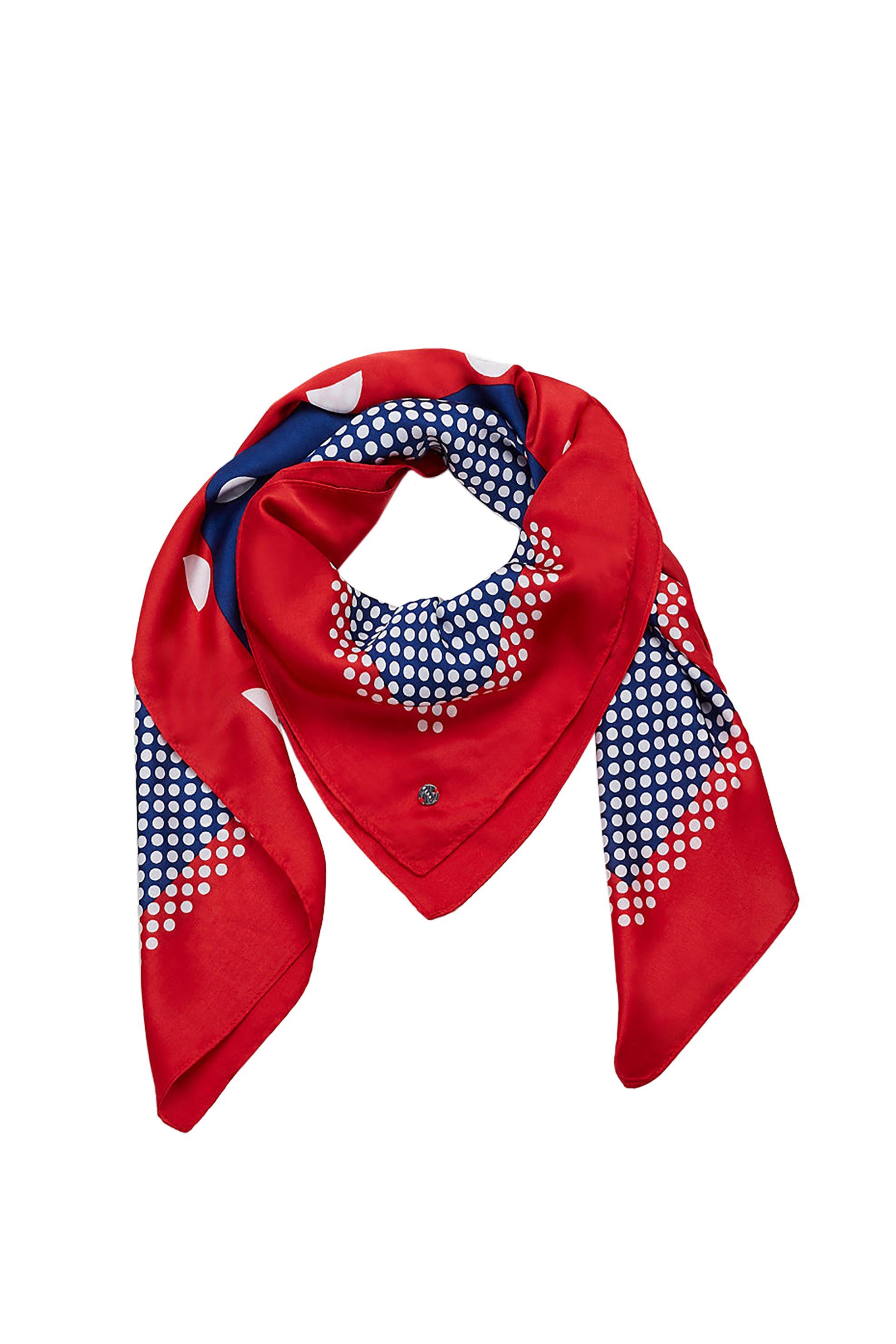 Esprit γυναικείo φουλάρι με πουά print - 029EA1Q006 - Κόκκινο γυναικα   αξεσουαρ   κασκόλ   μαντήλια