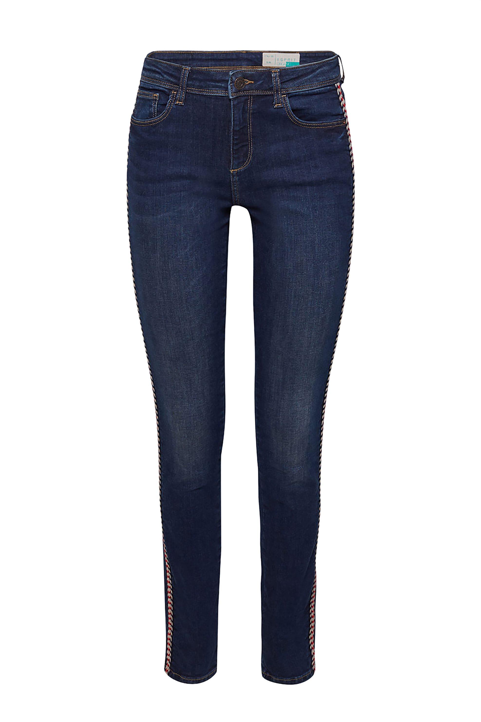 Esprit γυναικείο τζην παντελόνι με κορδόνι στο πλάι (32L) - 029EE1B023 - Μπλε Σκ γυναικα   ρουχα   jeans   skinny   slim