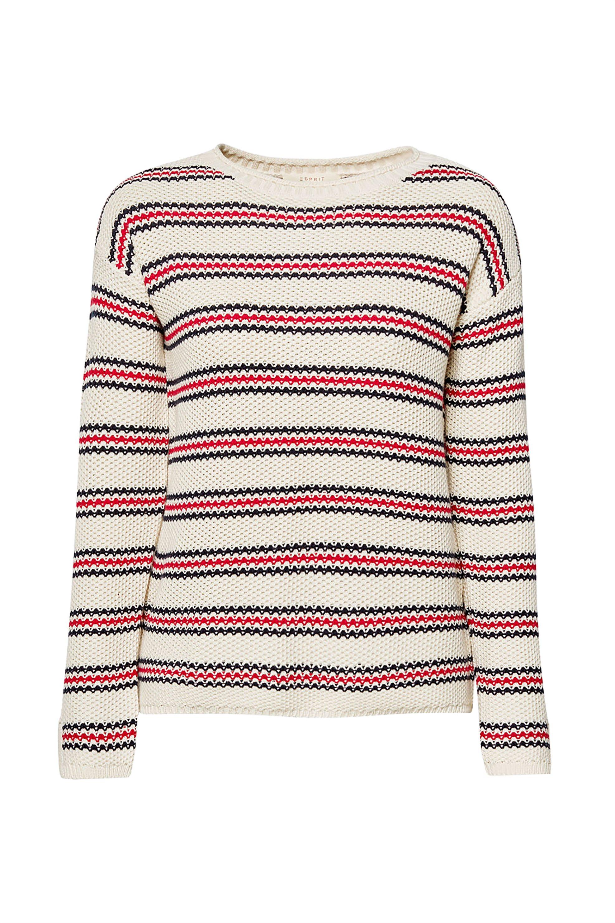 Esprit γυναικείο πλεκτό με ρίγες - 029EE1I006 - Εκρού γυναικα   ρουχα   πλεκτά   πουλόβερ