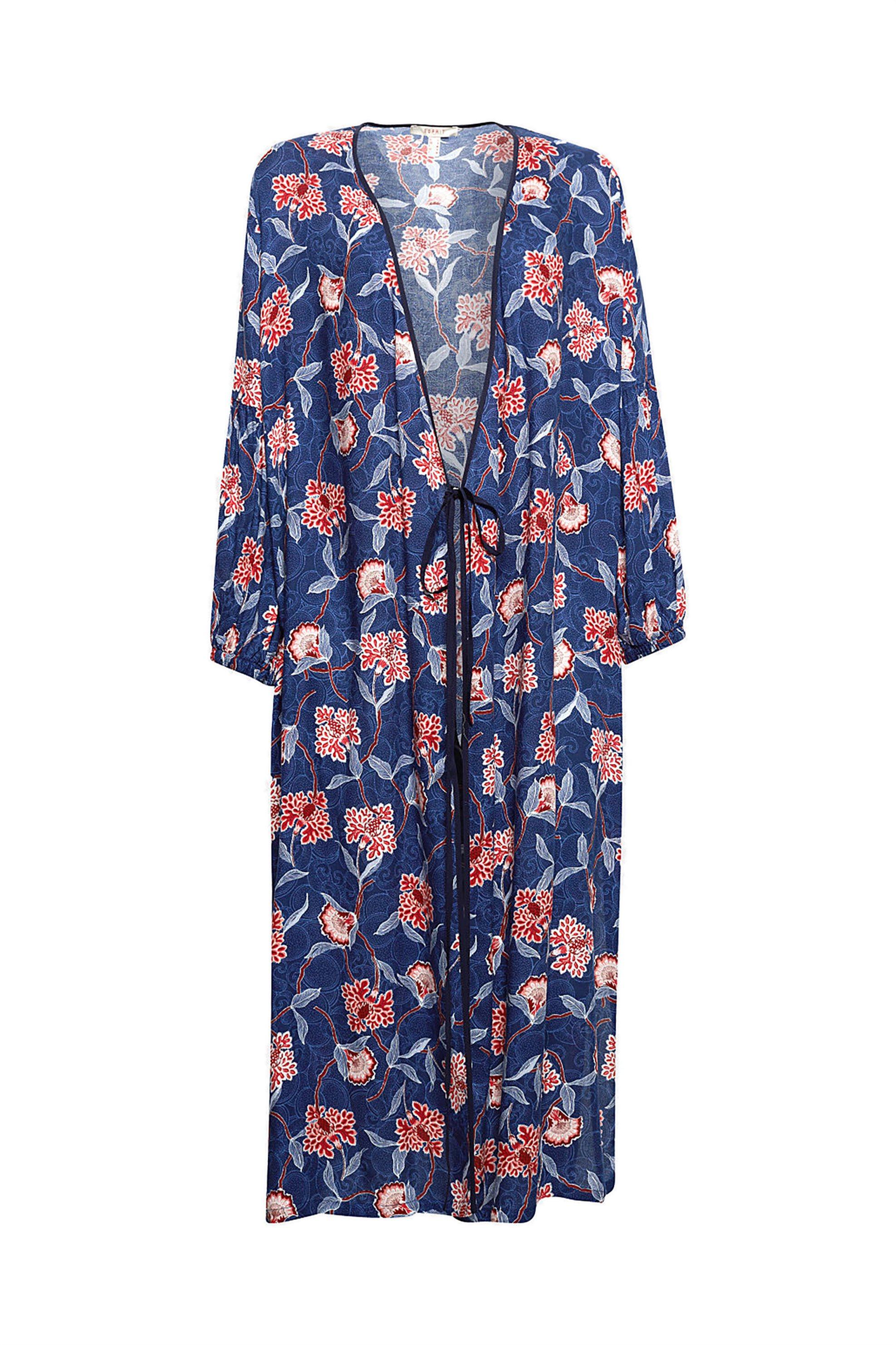 Γυναικείο φλοράλ κρουαζέ φόρεμα Esprit - 038EE1E016 - Μπλε Σκούρο γυναικα   ρουχα   φορέματα   midi φορέματα