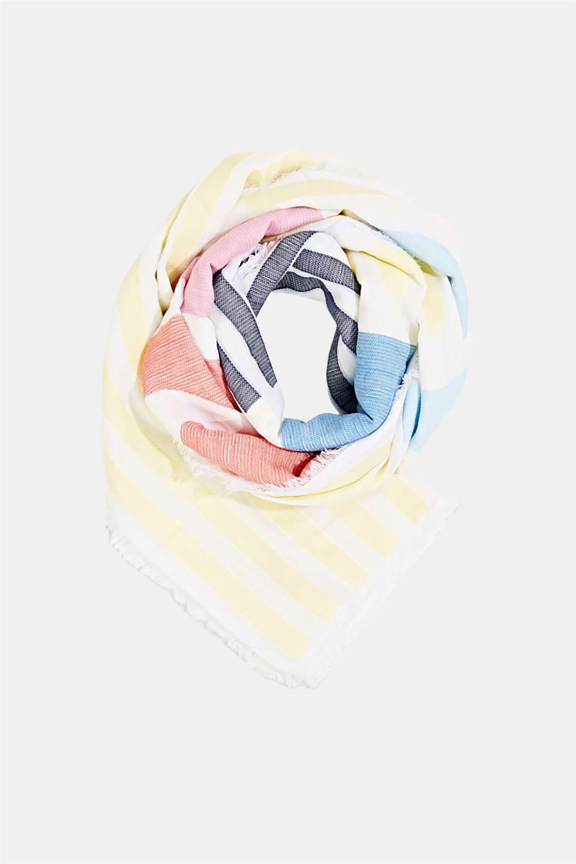 Esprit γυναικείο ριγέ φουλάρι - 050EA1Q305 - Κίτρινο