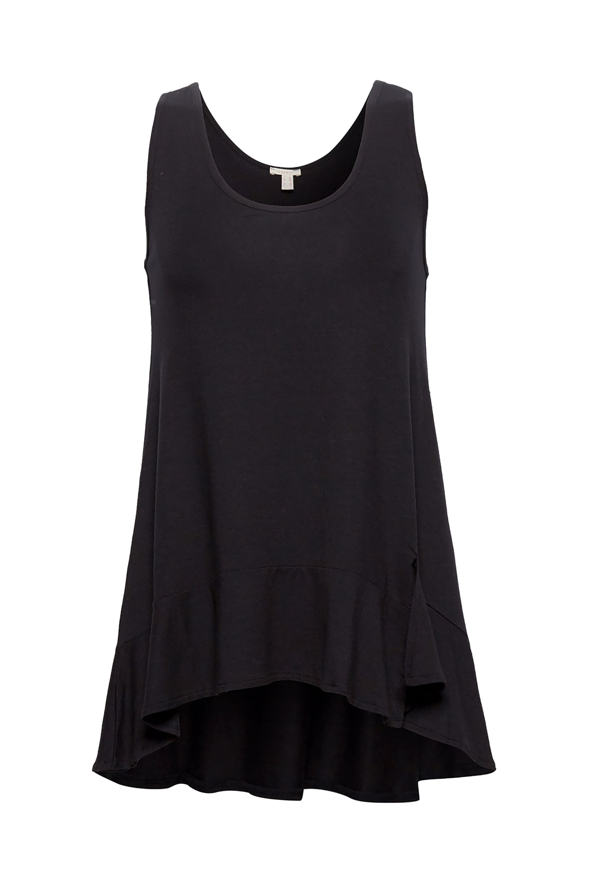 Esprit γυναικεία μπλούζα με βολάν - 078EE1K013 - Μαύρο γυναικα   ρουχα   tops   αμάνικα