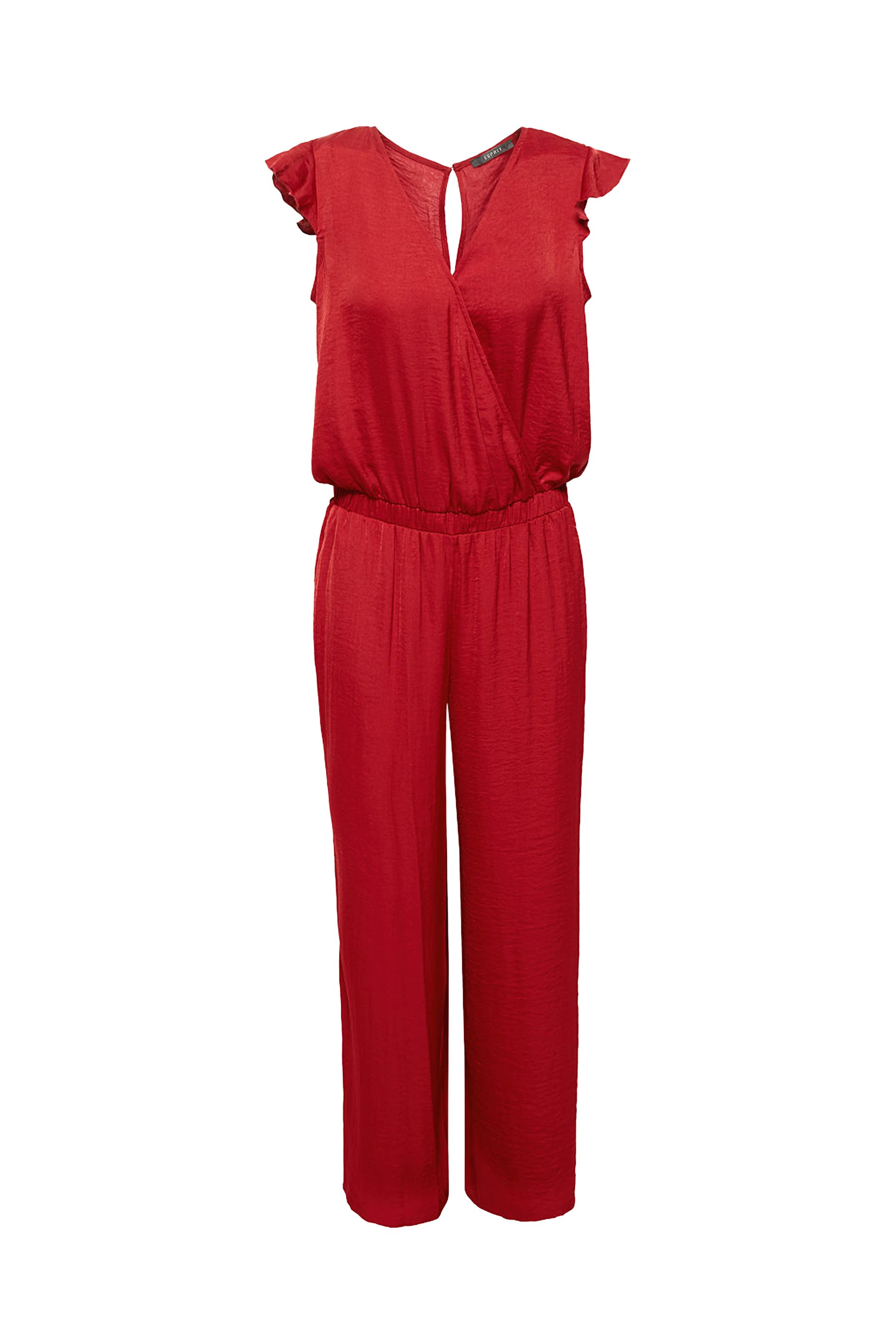 Esprit σατέν γυναικεία ολόσωμη φόρμα - 078EO1L002 - Κόκκινο γυναικα   ρουχα   ολόσωμες φόρμες   σαλοπέτες