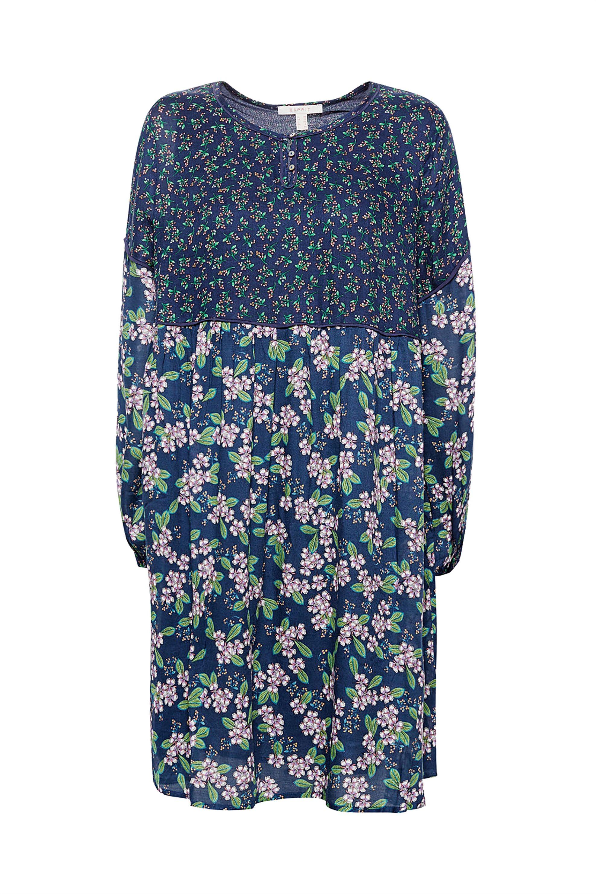 Esprit γυναικείο φόρεμα εμπριμέ - 088EE1E014 - Μπλε Σκούρο γυναικα   ρουχα   φορέματα   mini φορέματα
