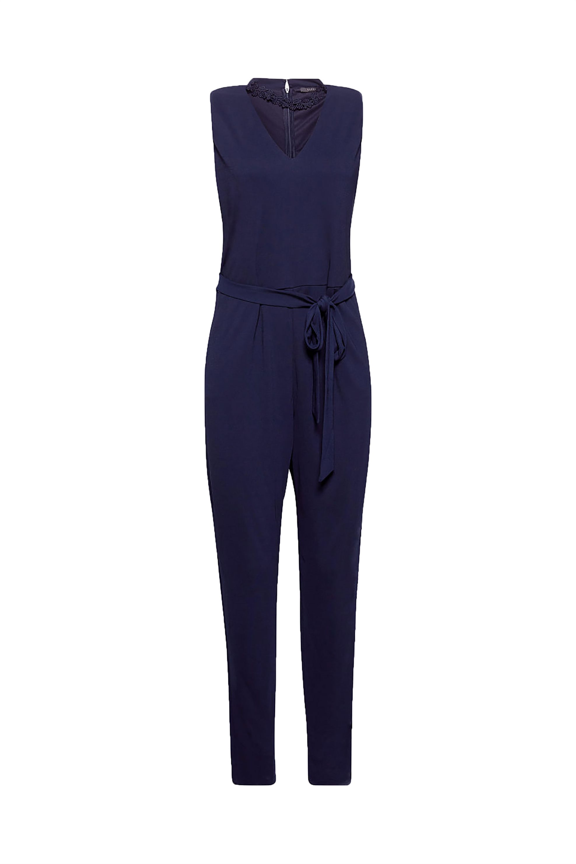 Esprit γυναικεία ολόσωμη φόρμα με δαντέλα - 088EO1L001 - Μπλε Σκούρο γυναικα   ρουχα   ολόσωμες φόρμες   σαλοπέτες