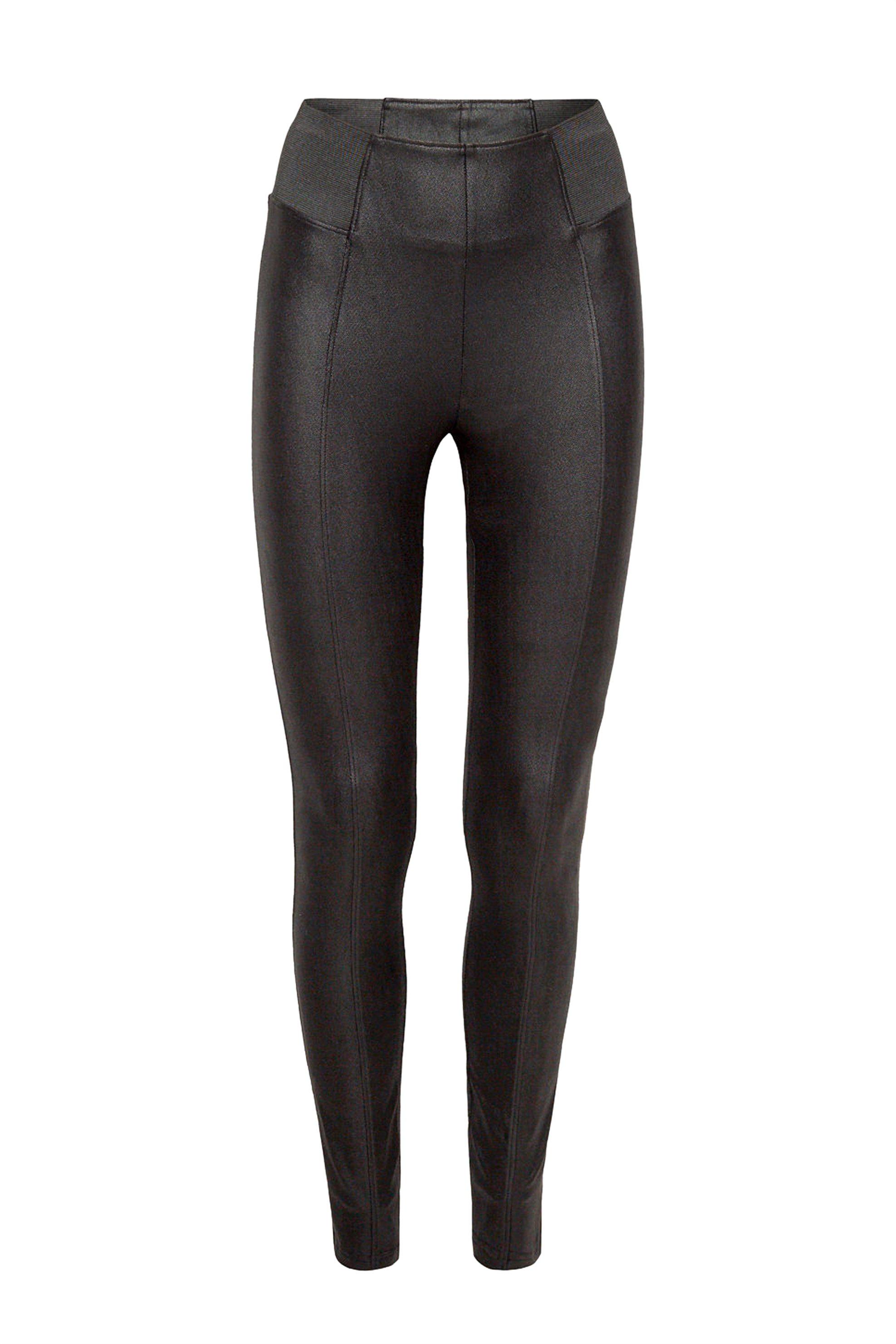 Esprit γυναικείο faux leather παντελόνι κολάν με λάστιχο στην μέση - 118EE1B043  γυναικα   ρουχα   παντελόνια   κολάν