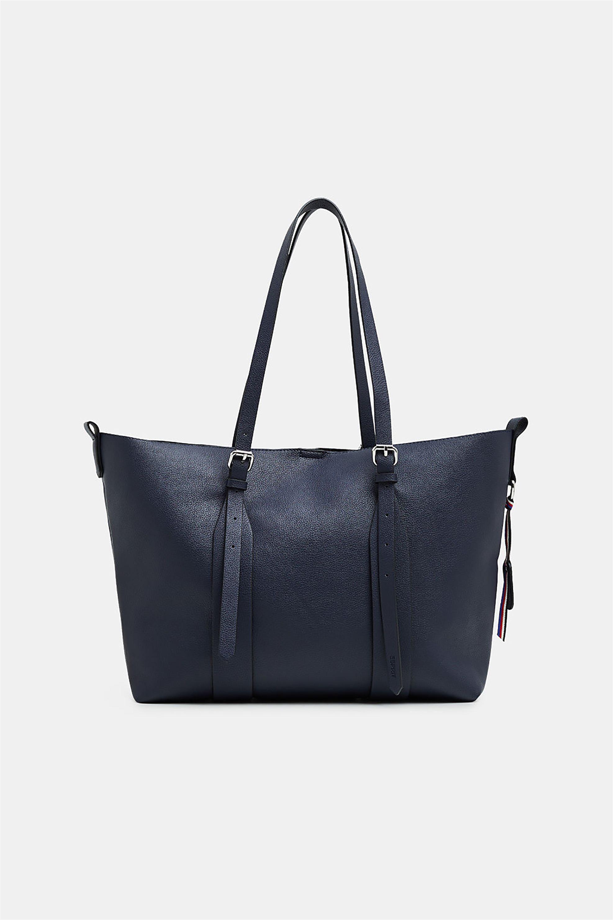 daf11a2e46 Esprit γυναικεία τσάντα ώμου με μεταλλικές λεπτομέρειες - 128EA1O008 - Μπλε  Σκούρο