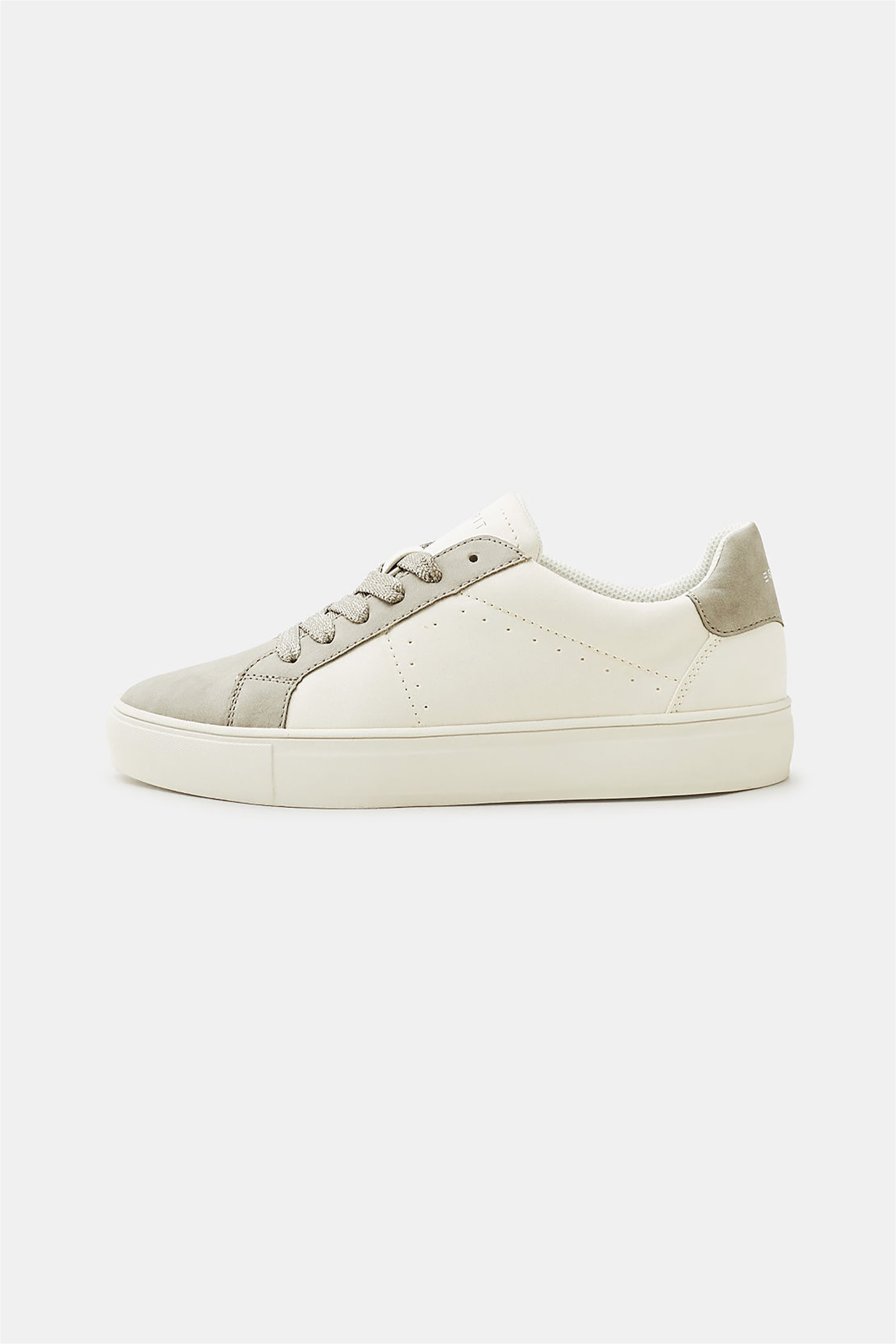 731f40cb85c Esprit γυναικεία sneakers με faux suede λεπτομέρειες - 128EK1W003 - Εκρού
