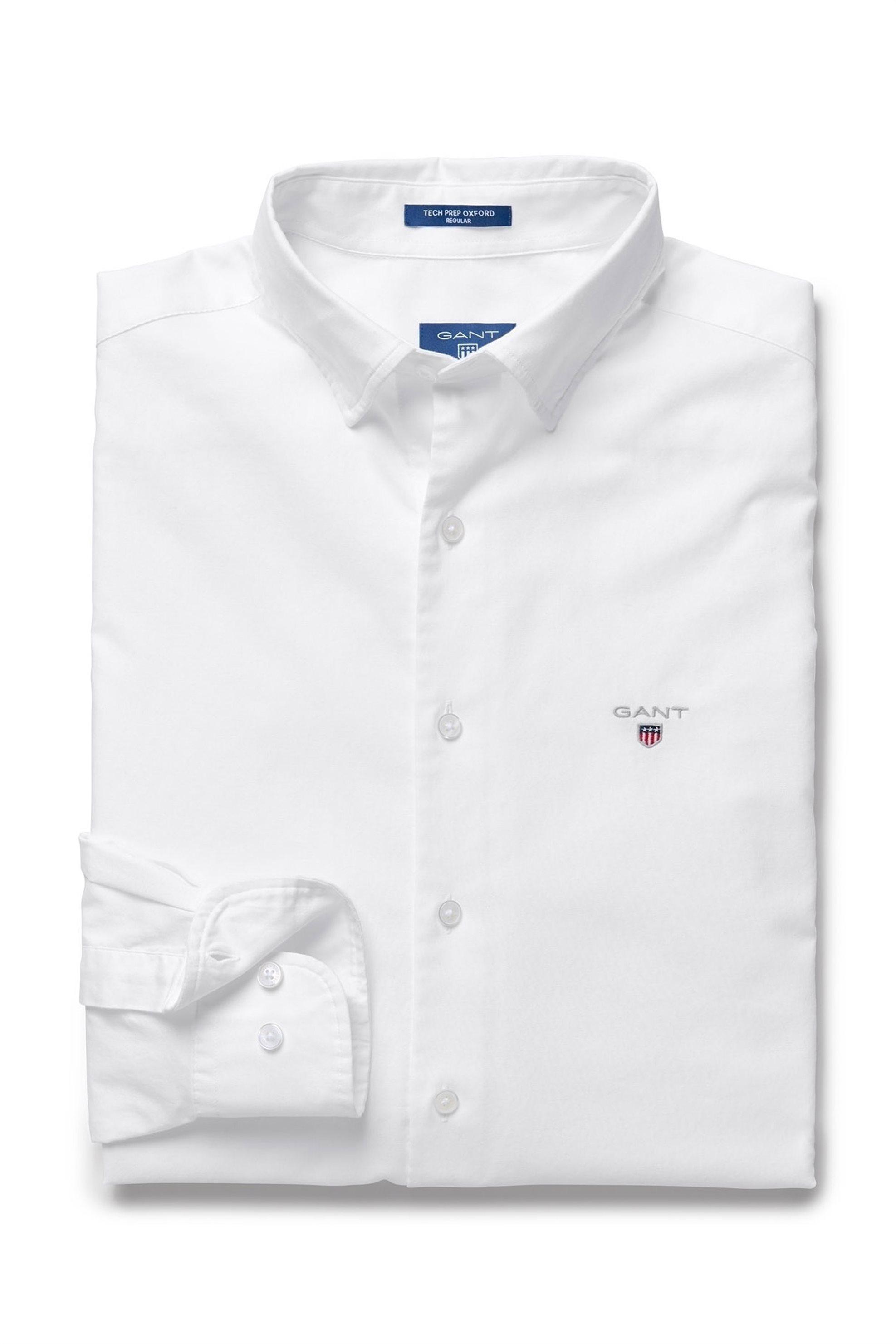 Ανδρικό πουκάμισο Oxford Plain Reg HBD Gant - 3005130 - Λευκό ανδρασ   ρουχα   πουκάμισα   casual