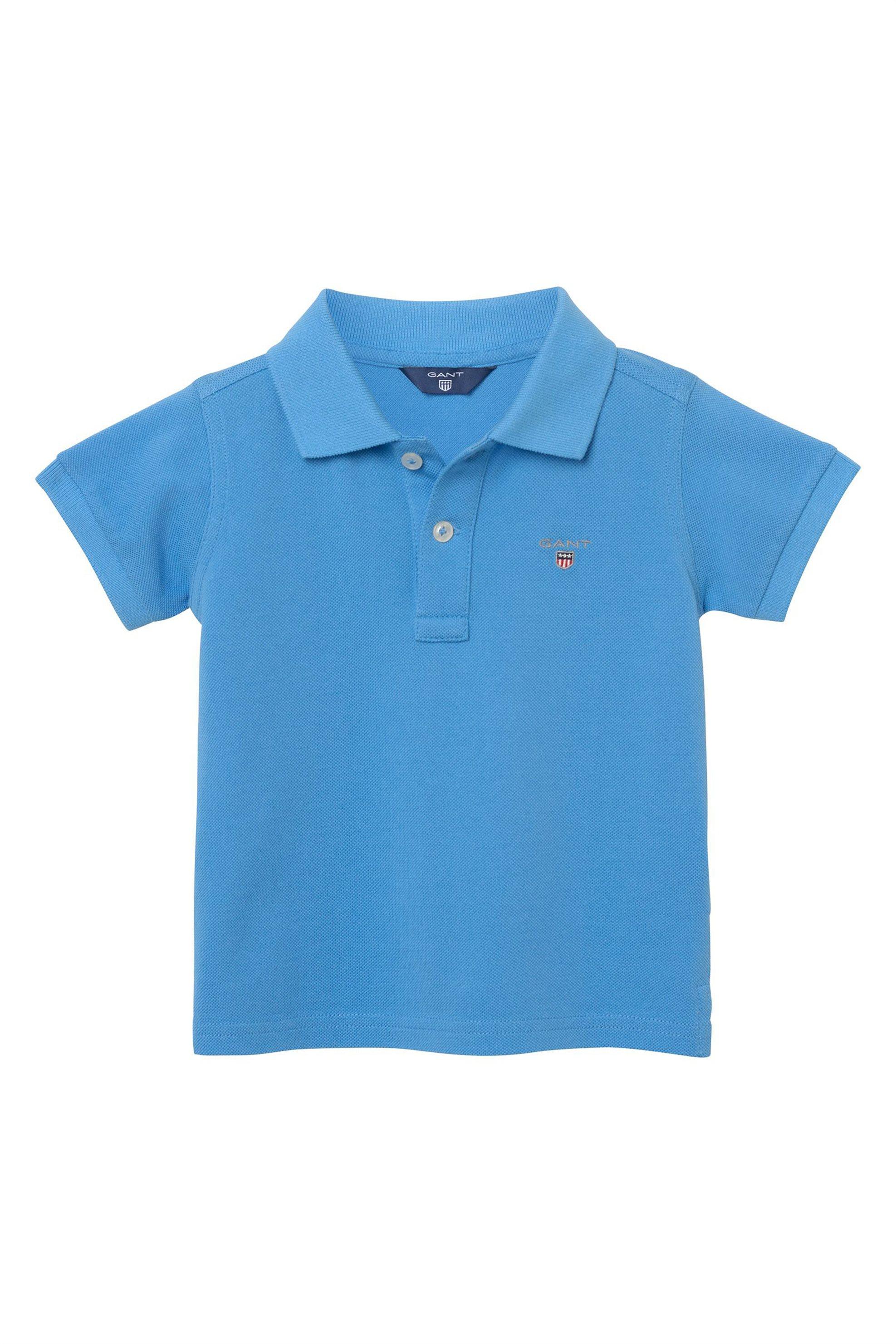 f4871ff2428 Notos Gant βρεφική μπλούζα polo μονόχρωμη - 702201 - Μπλε
